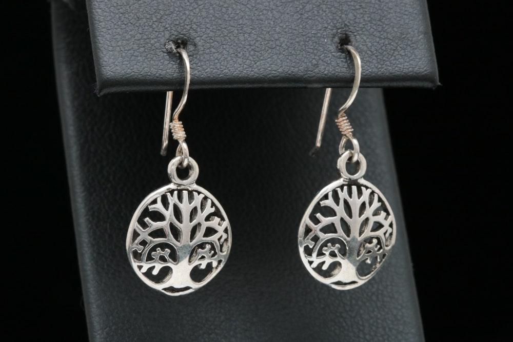 Sterling Silver Danlge Earrings