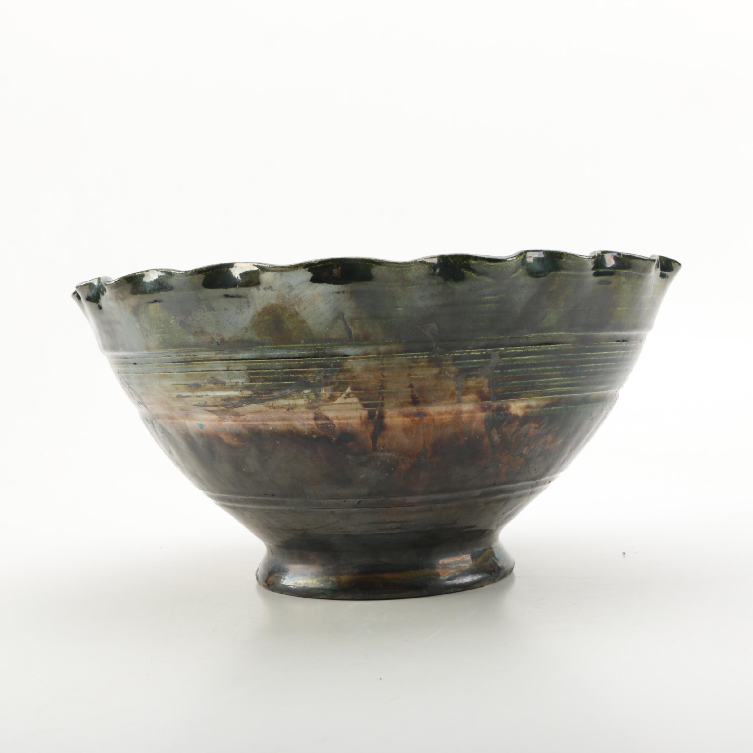 Hand Thrown Raku Stoneware Bowl