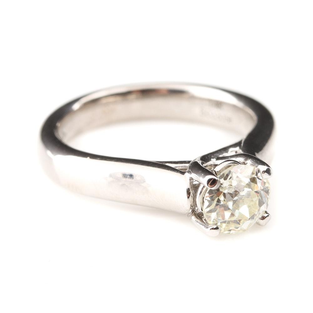Gabriel & Co. 14K White Gold Diamond Solitaire Ring