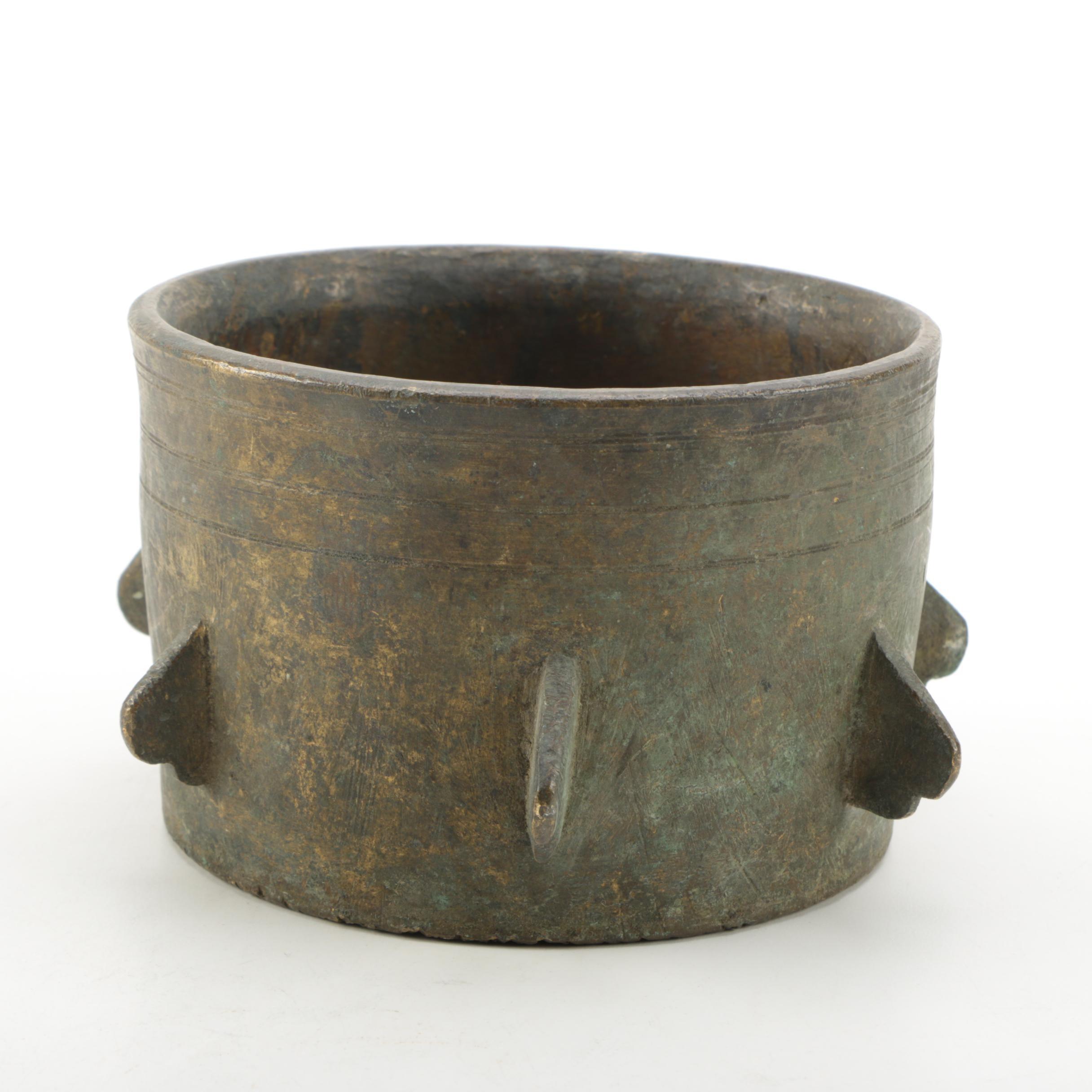 Antique Alloy Metal Mortar