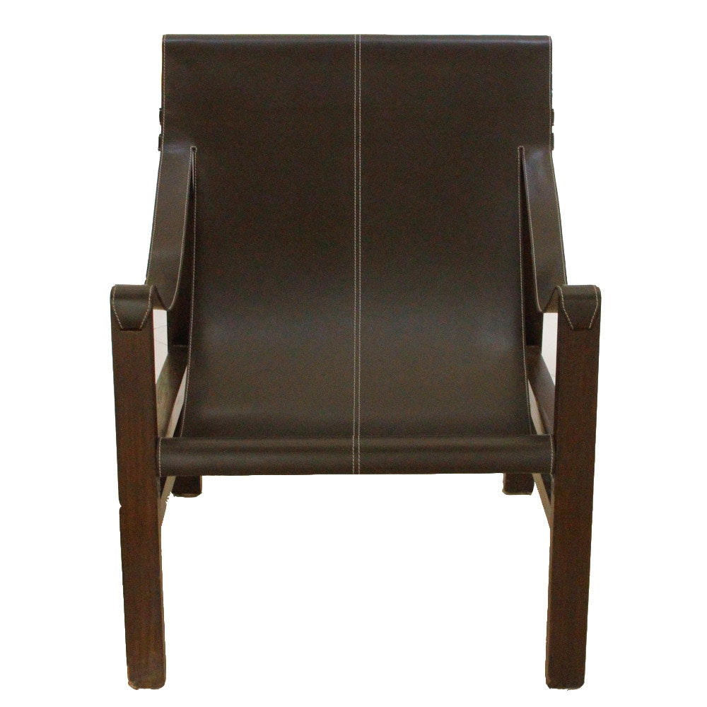 Leatherette Sling Chair