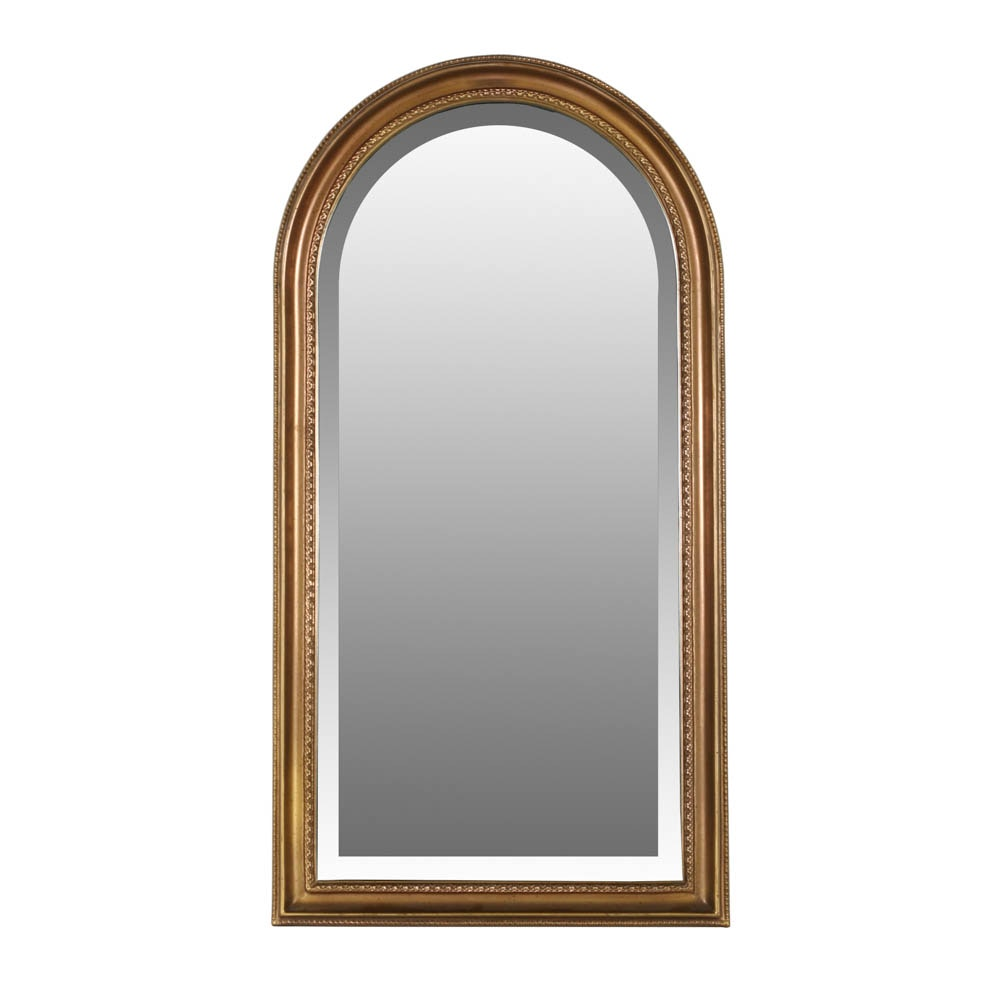 Cathedral Style Modern Gilt Wall Mirror