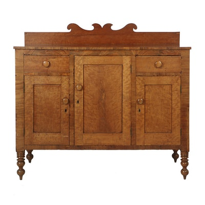 Antique Country Sheraton Cherry and Mahogany Sideboard, Circa Early 19th  Century - Online Furniture Auctions Vintage Furniture Auction Antique