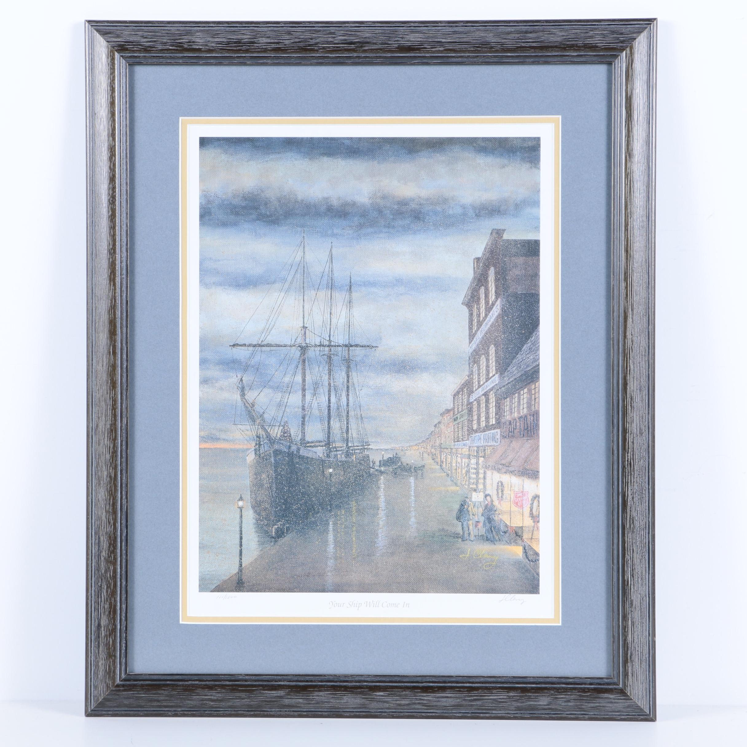 "Jim Clary Limited Edition Reproduction Print ""Your Ship Will Come In"""