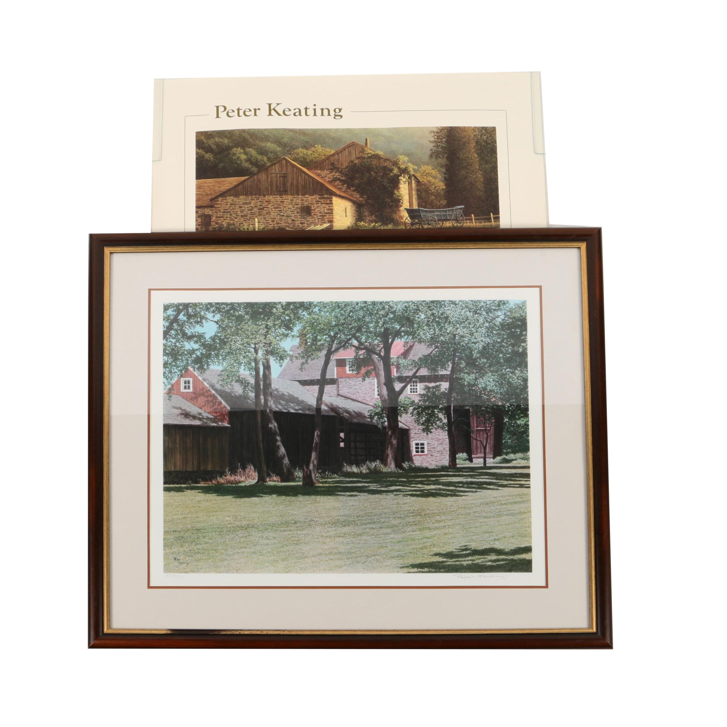 Peter Keating Limited Edition Giclee of Farmhouse and Offset Lithograph