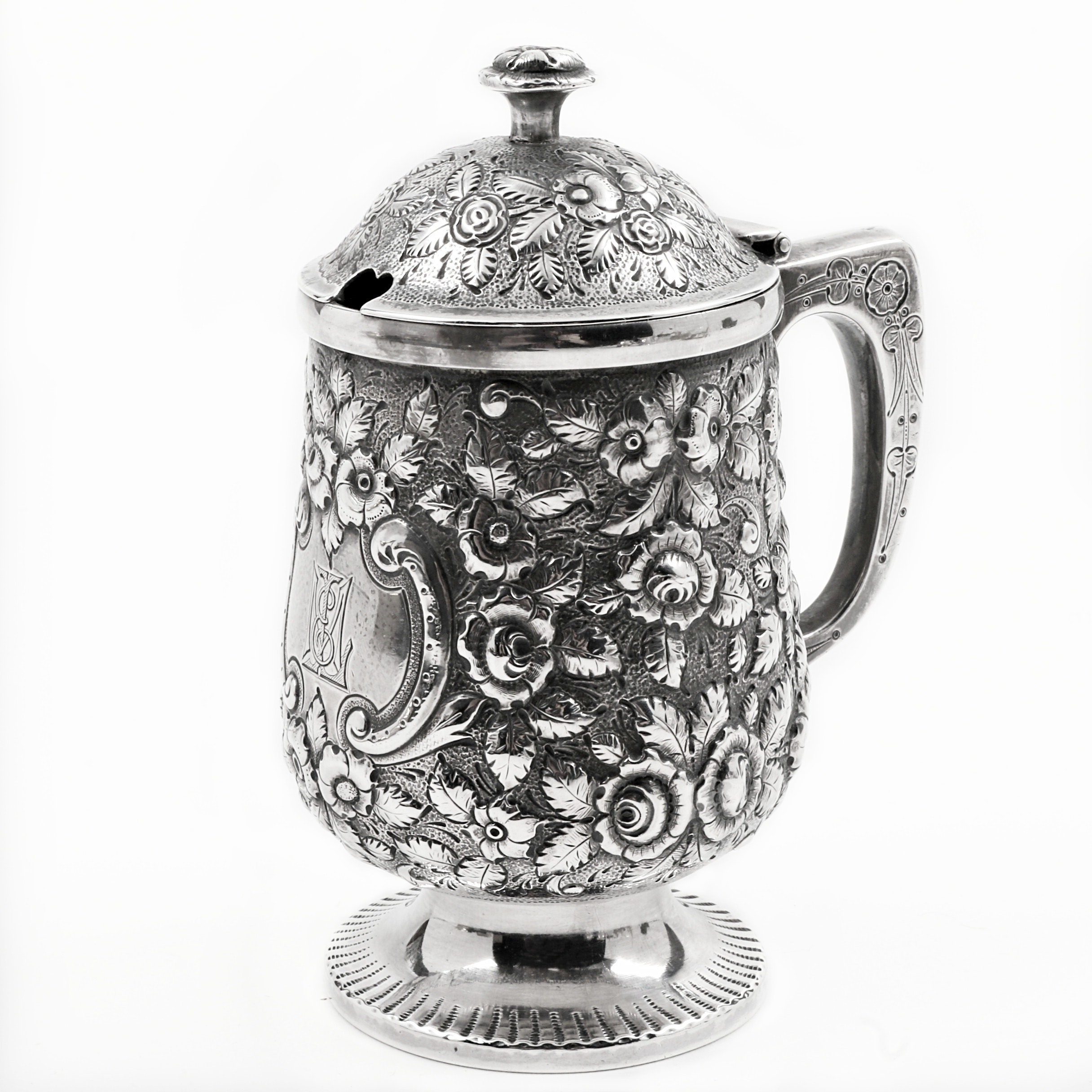Antique Krider & Biddle Sterling Silver Jelly Pot from A.E. Warner