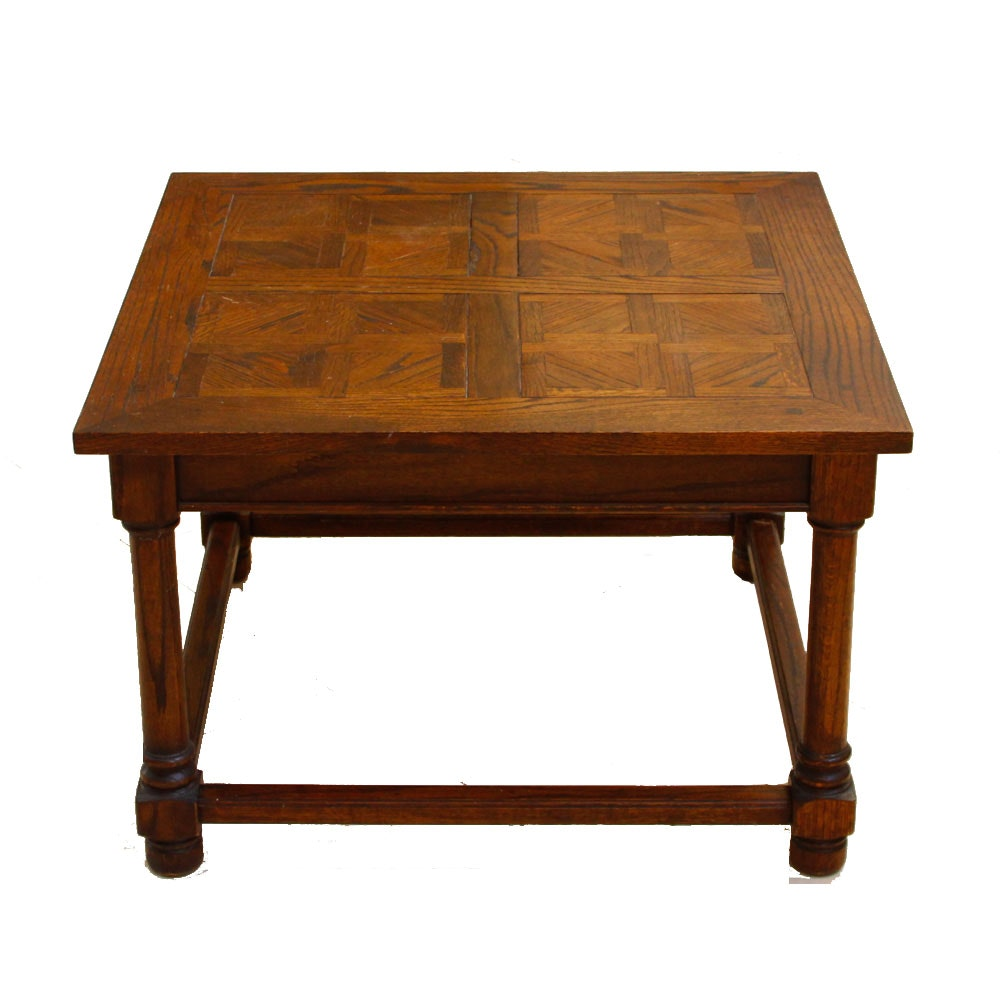Oak Marquetry Top Coffee Table