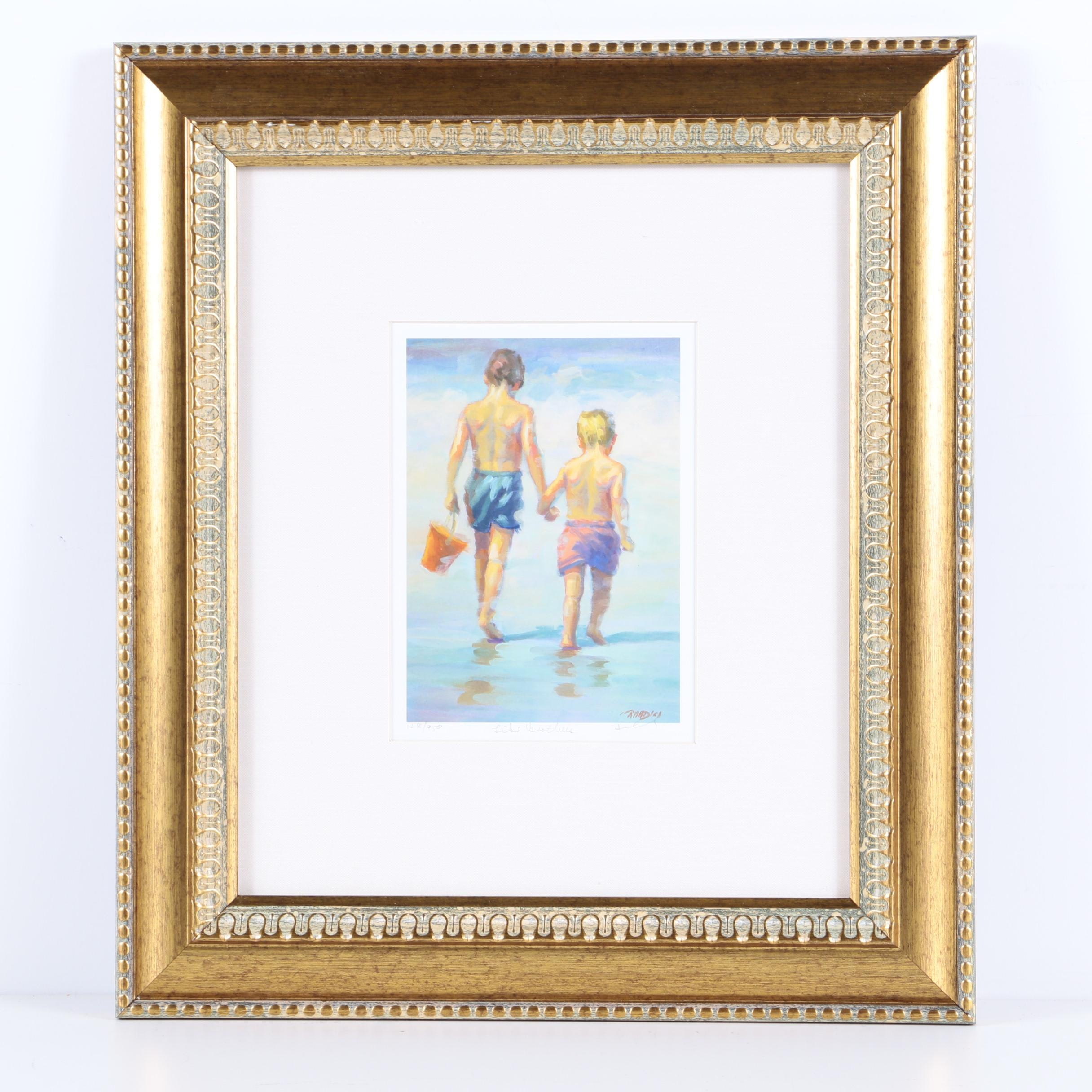 "Lucelle Raad Limited Edition Reproduction Print ""Like Brothers"""