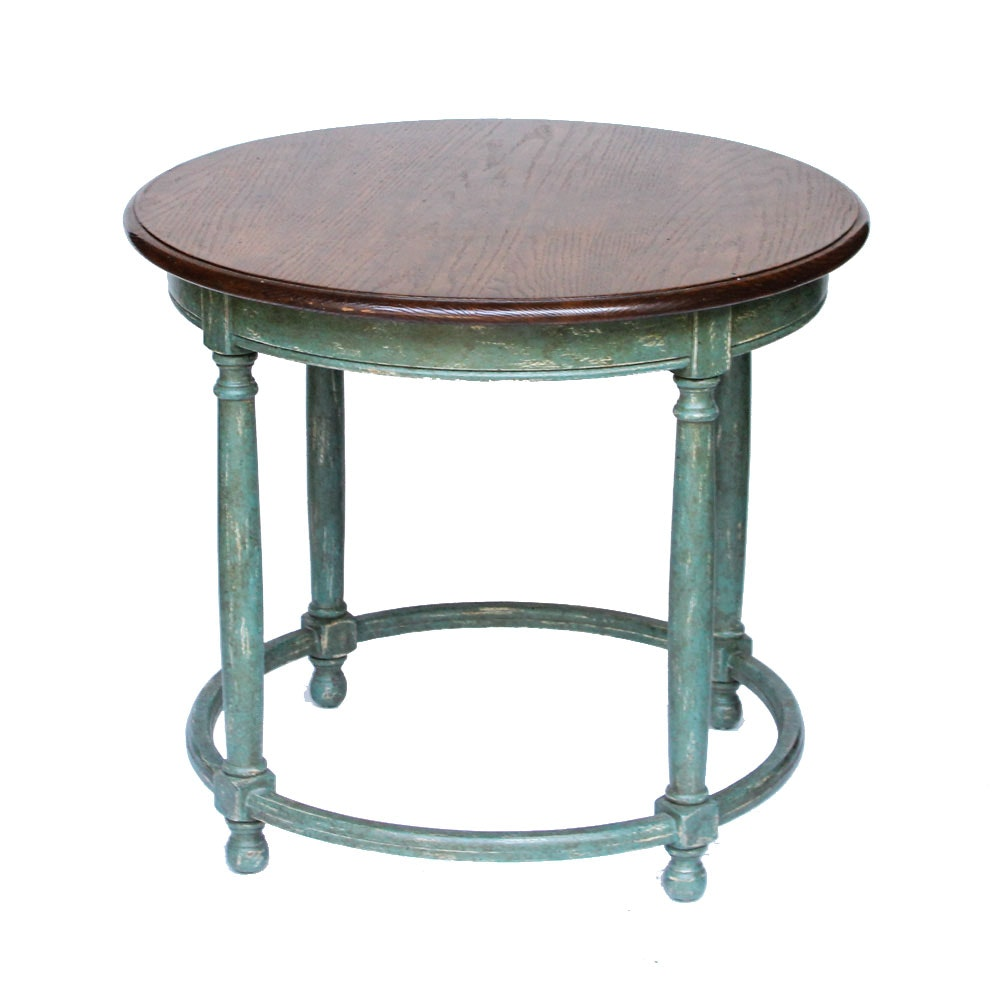 Rustic Oak Accent Table by Minton-Spindell