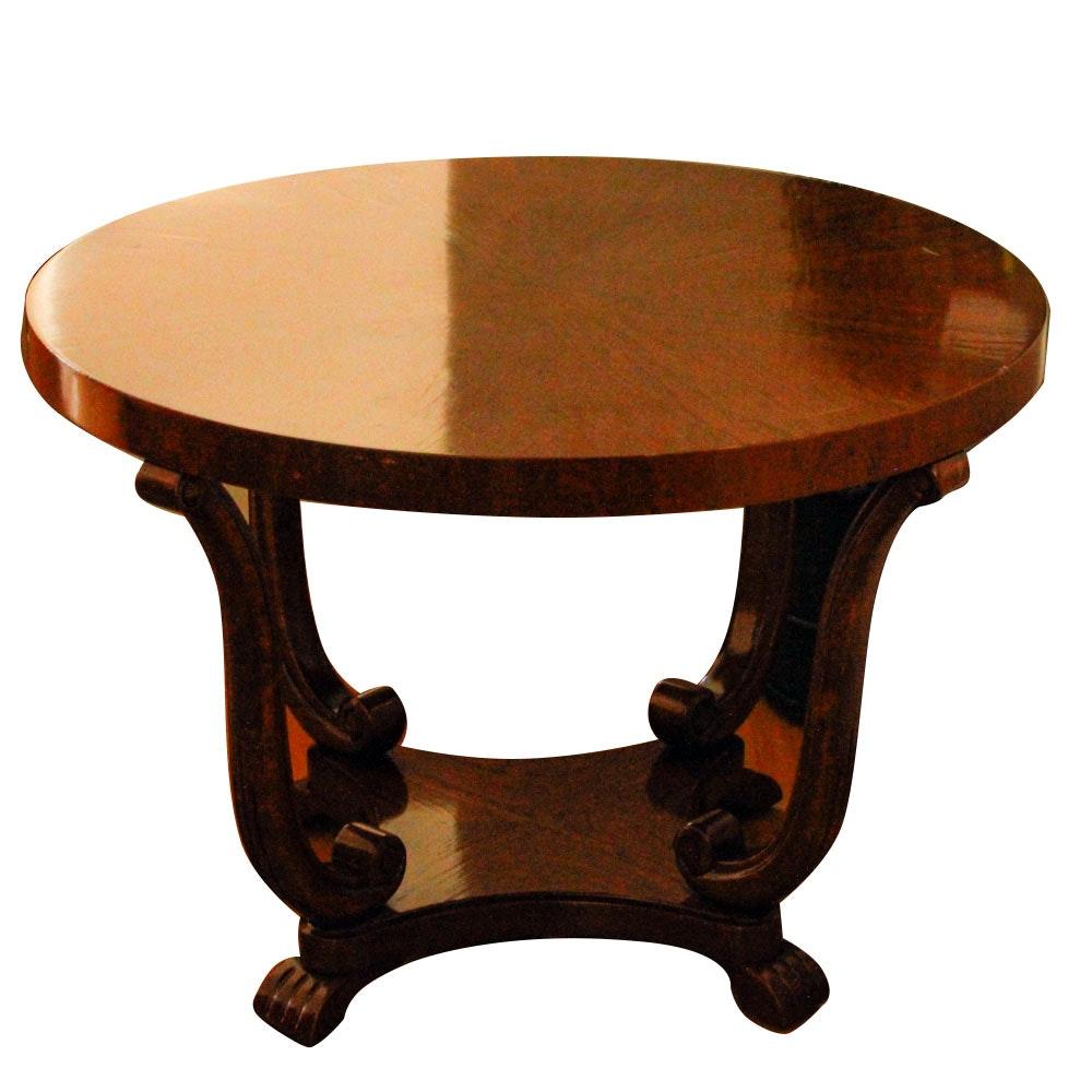 Empire Style Walnut Veneer Center Table