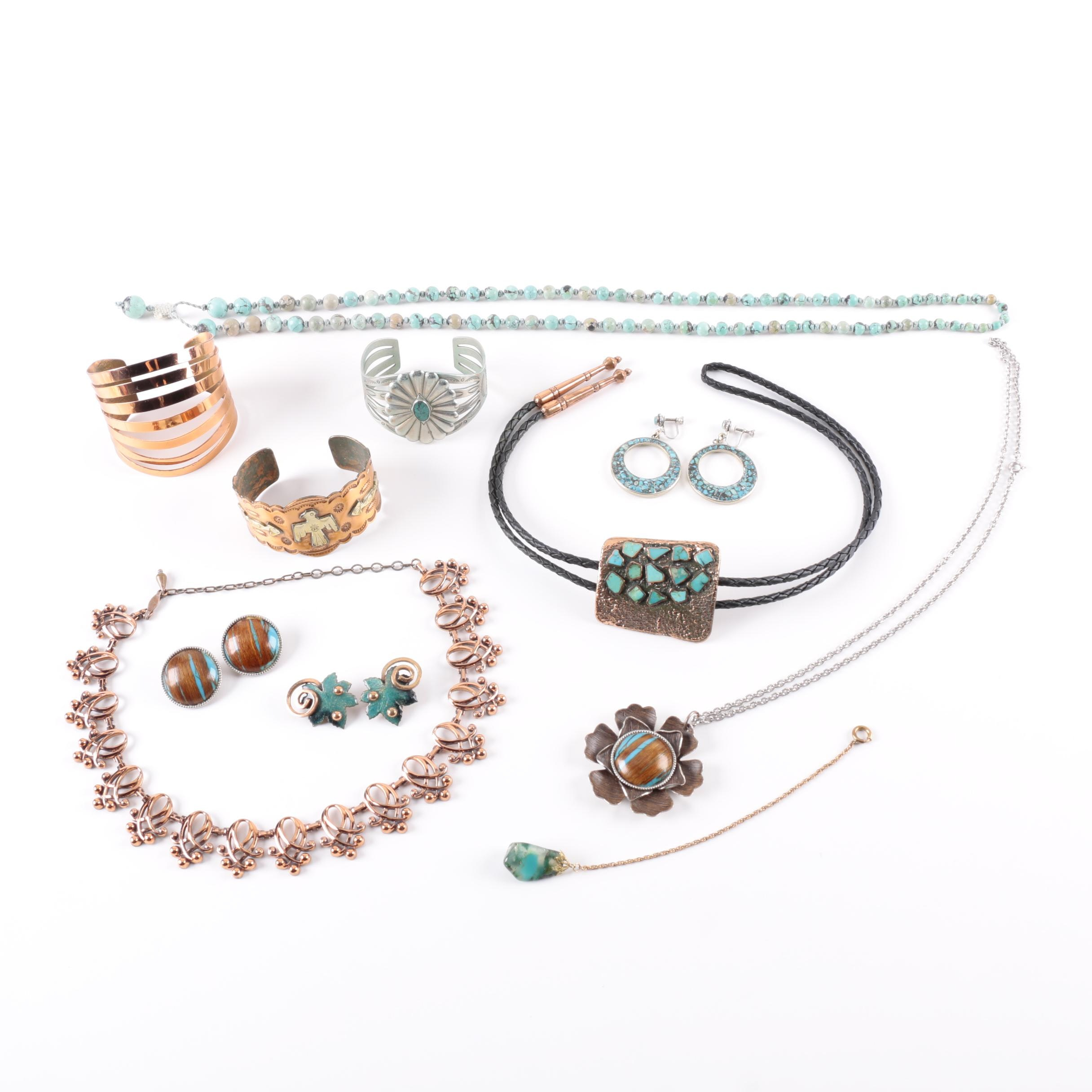 Grouping of Vintage Costume Jewelry Featuring Renoir and Matisse