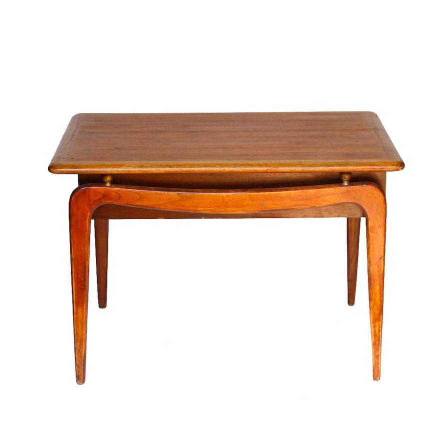 Vintage Mid Century Modern Walnut Side Table