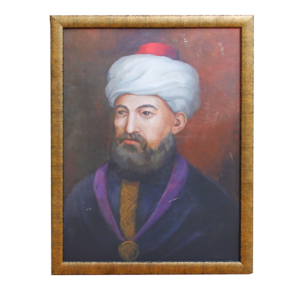 Oil Portrait on Academy Board of Maimonides