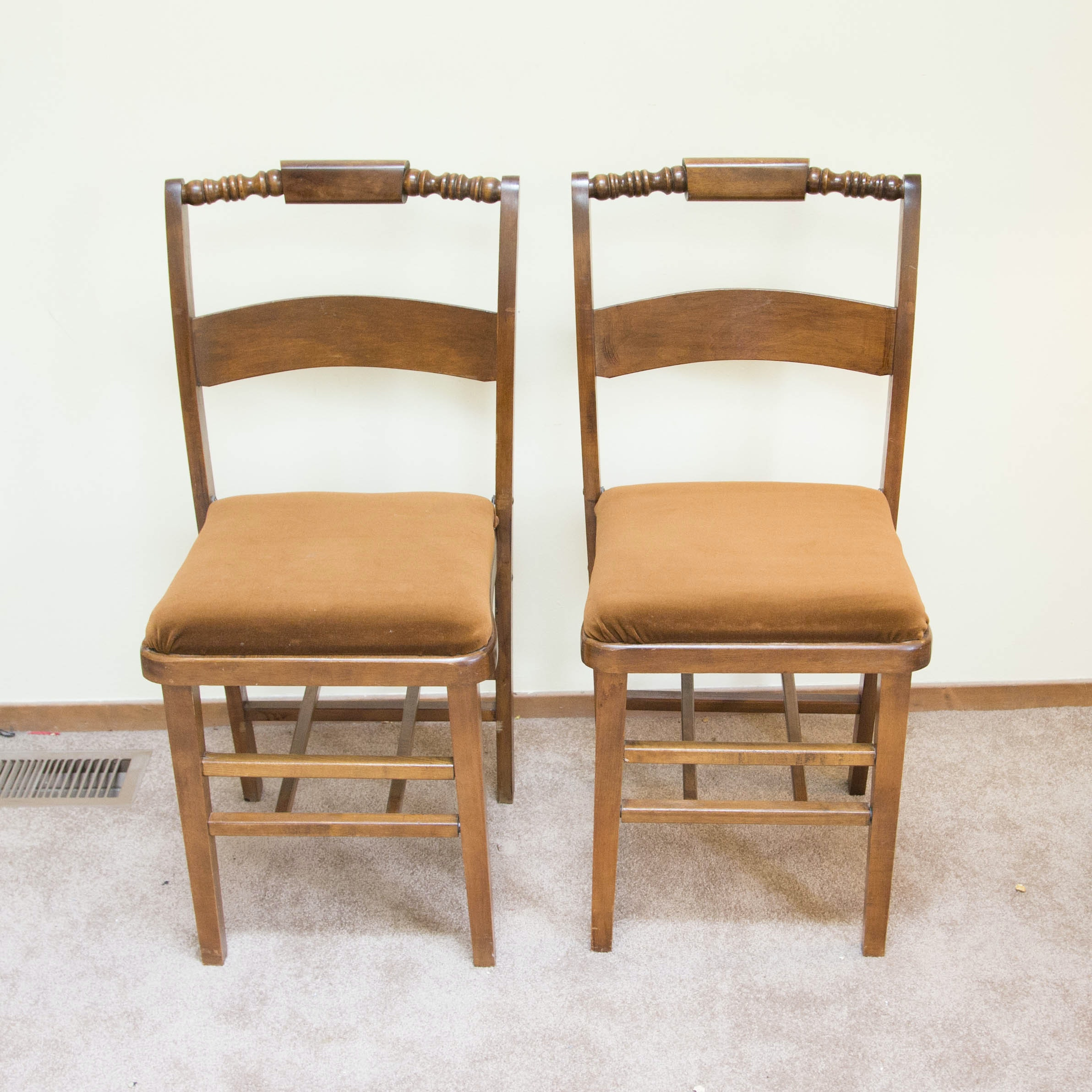 Vintage Wooden Folding Chairs ...