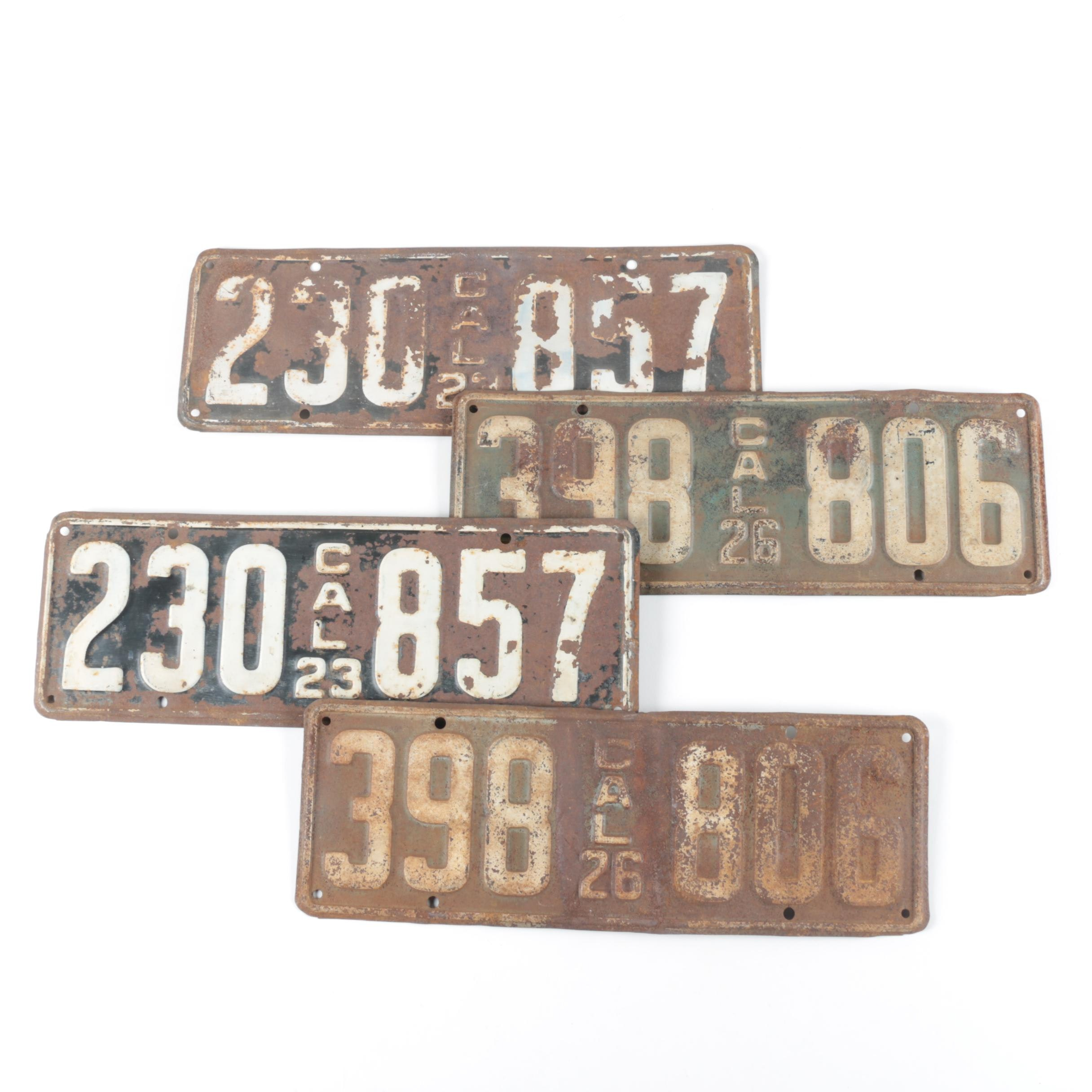 1920s California License Plates