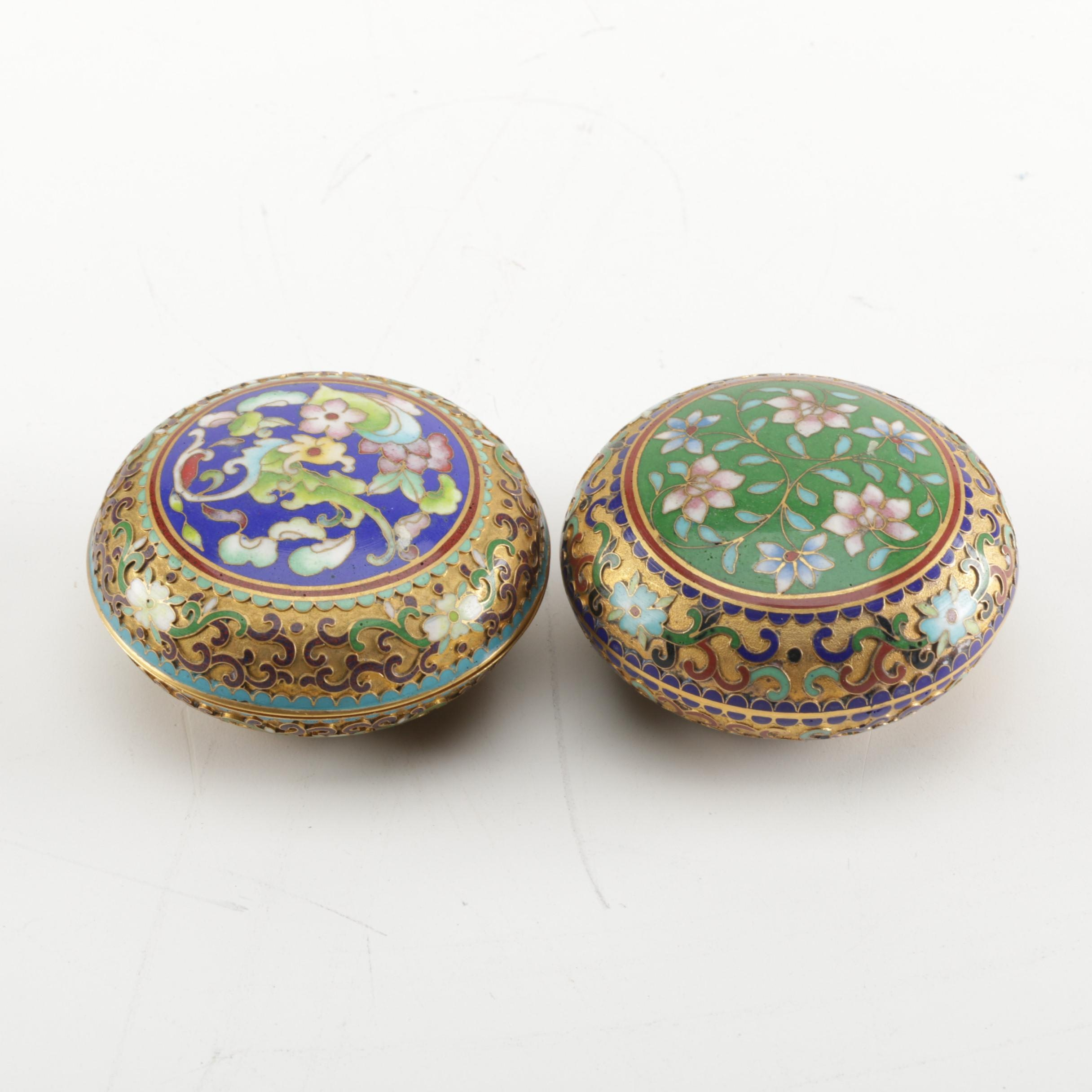 Asian Inspired Cloisonne Trinket Boxes