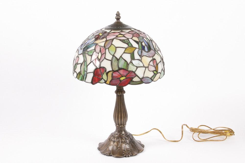 Tiffany Style Slag Glass Table Lamp