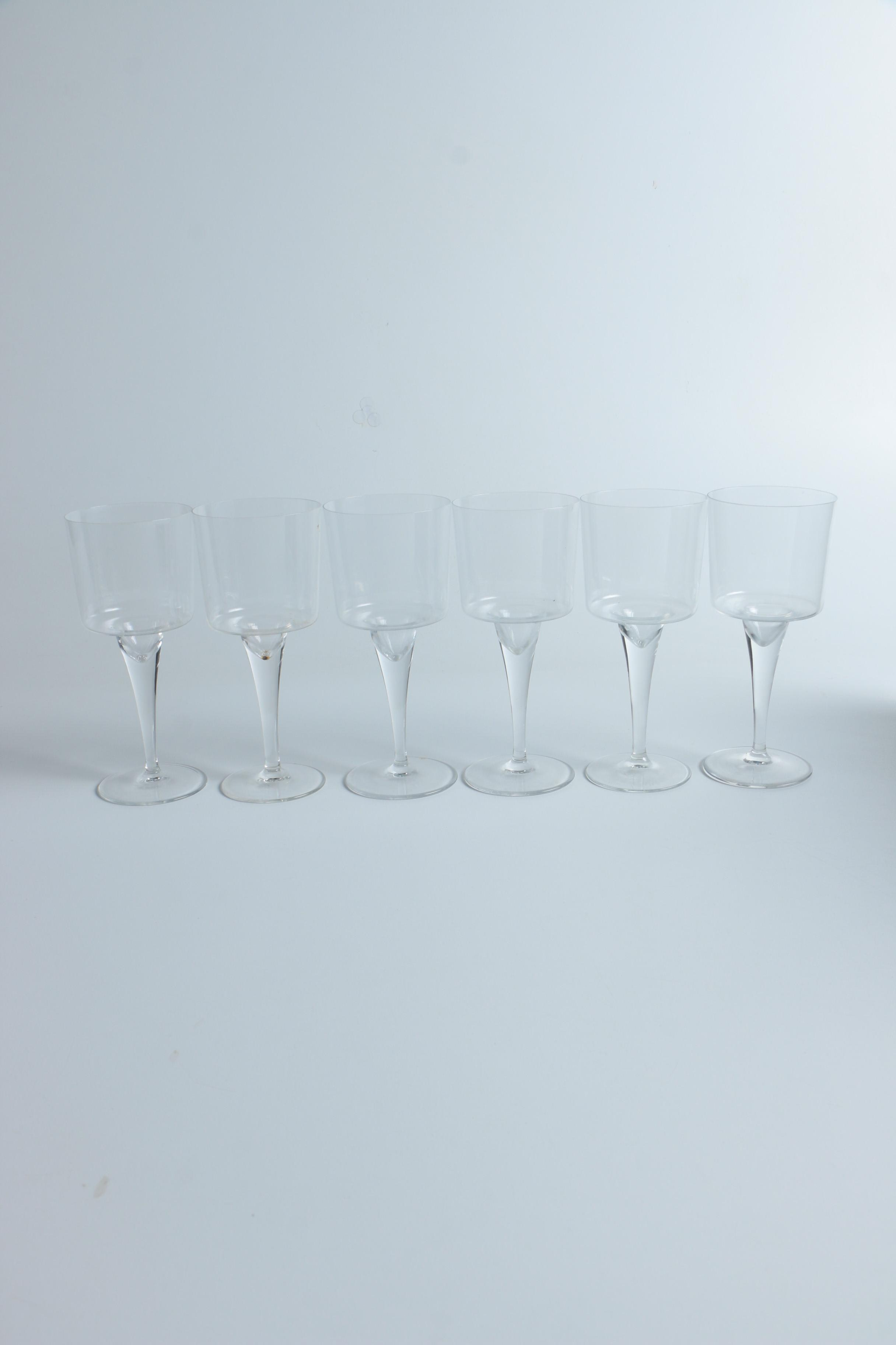 """Rosenthal """"Composition G"""" Red Wine Glasses"""