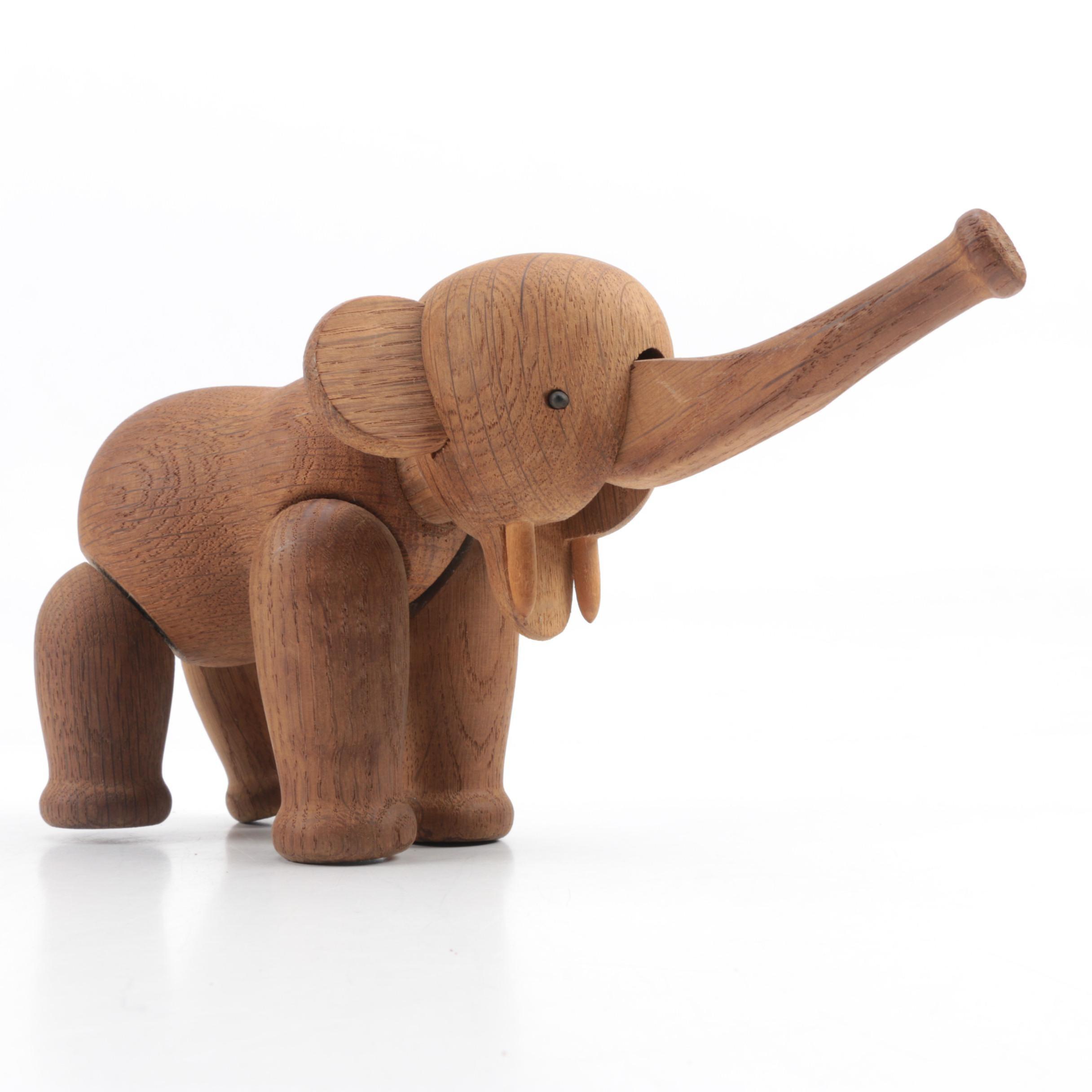 Kay Bojessen Wooden Elephant Figurine