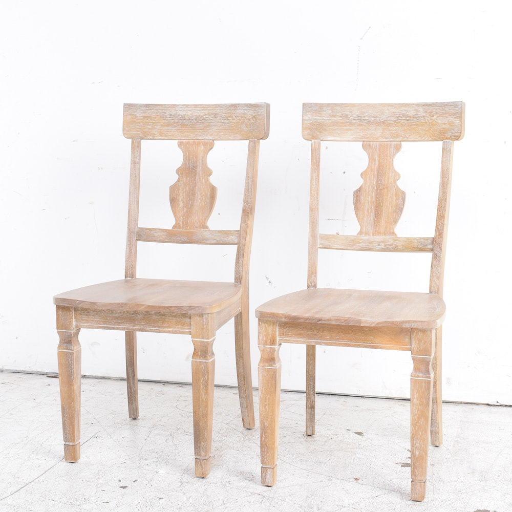White Washed Wooden Chairs by Pier 1