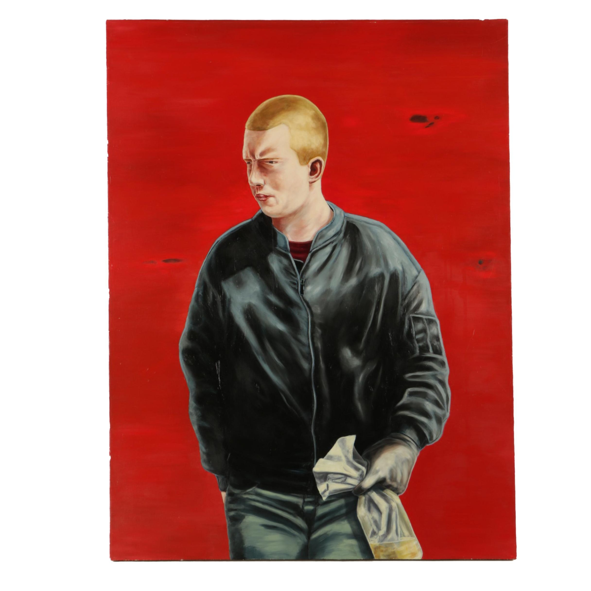 """Conor McGrady 1999 Oil Painting on Canvas """"Youth"""""""