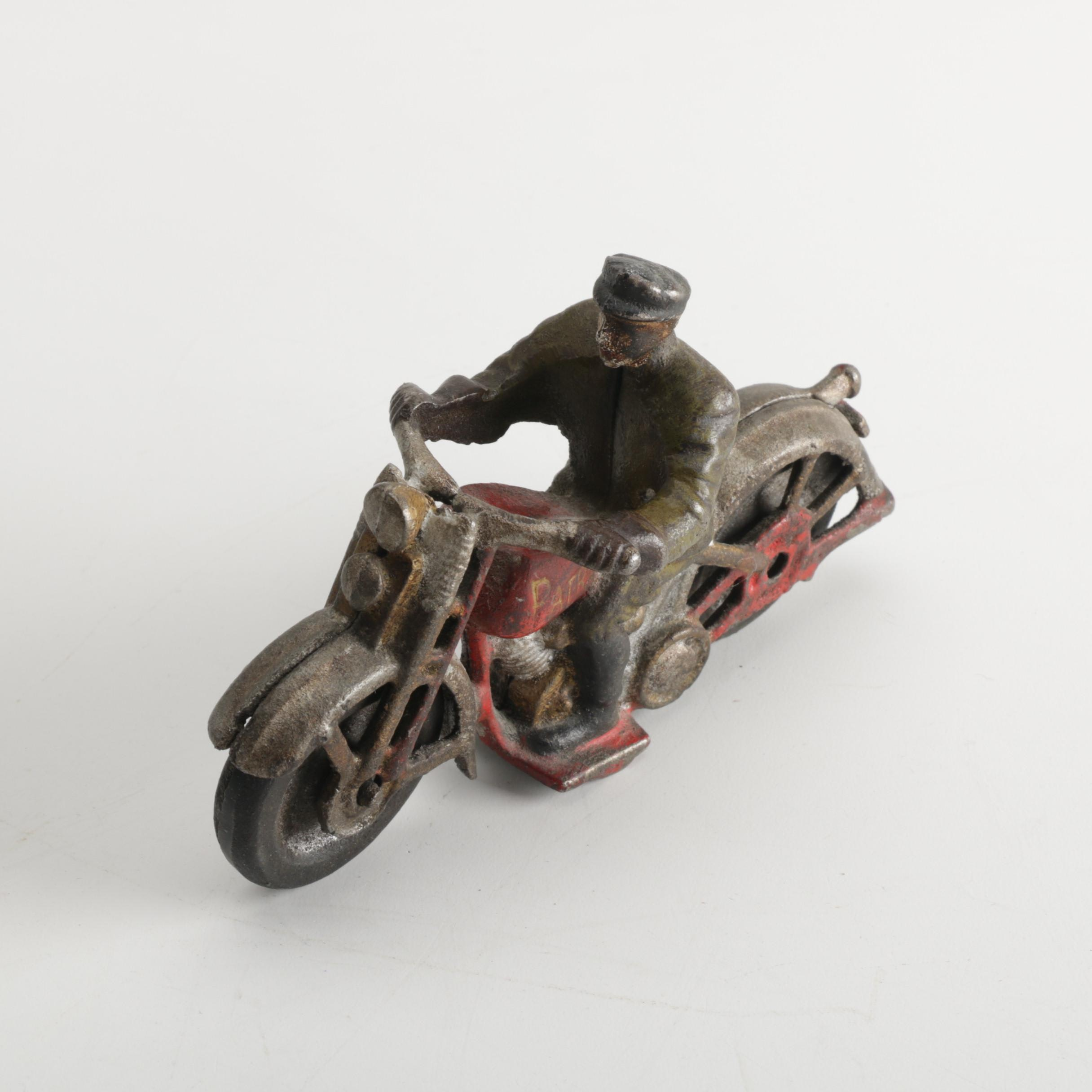 1930s Hubley Cast Iron Motorcycle