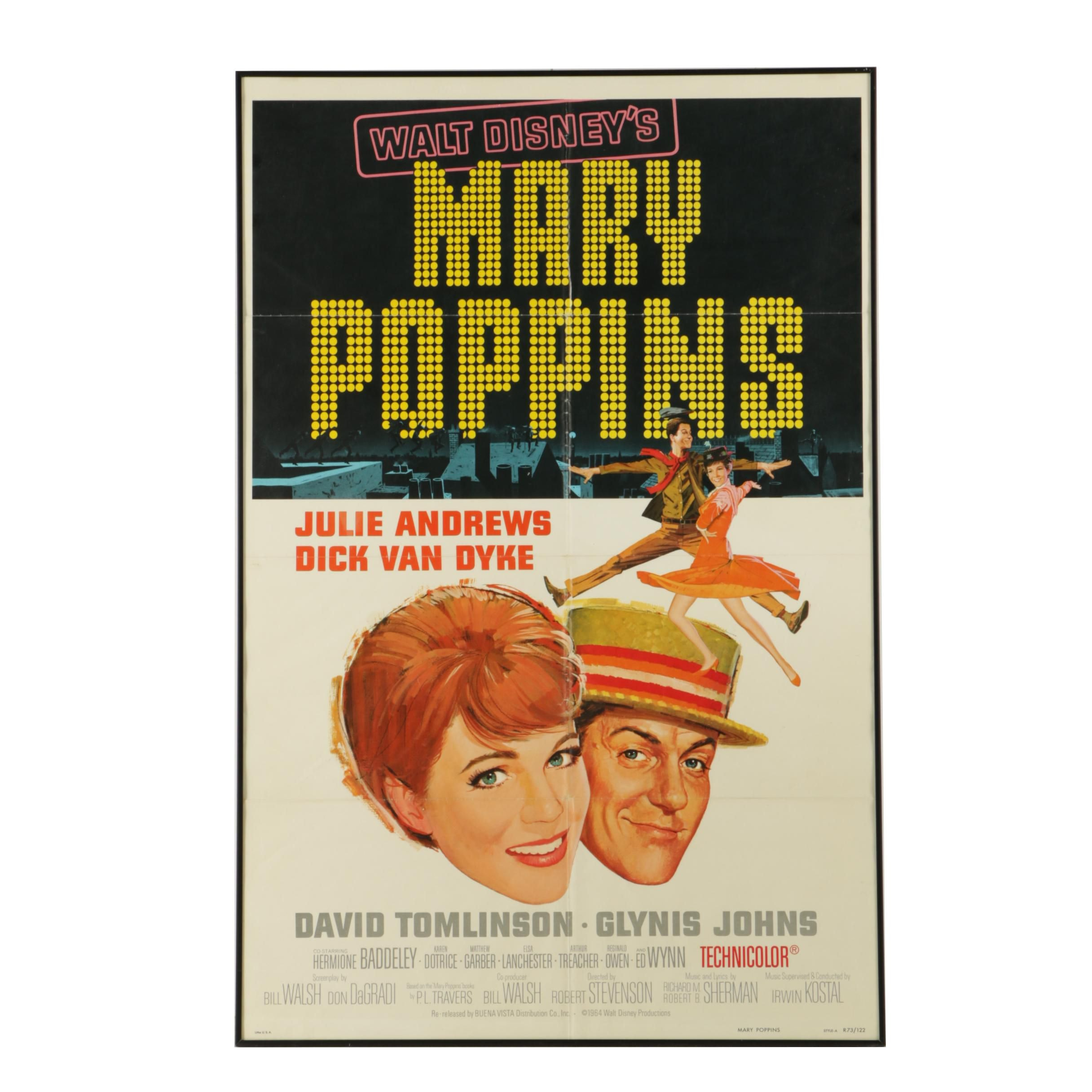 """Walt Disney's """"Mary Poppins"""" 1973 NSS-Issued Movie Poster"""
