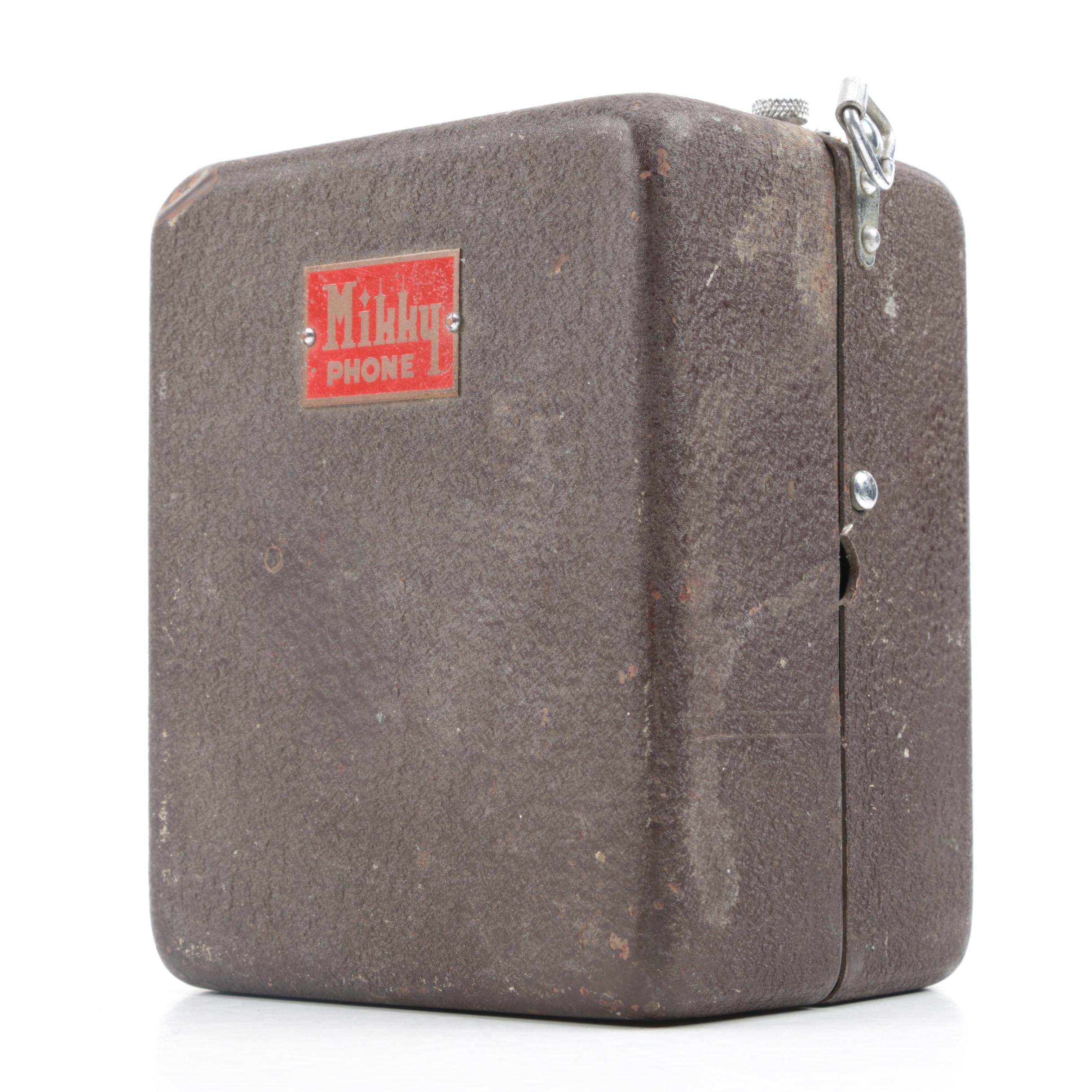 Vintage Mikky Mini Phonograph