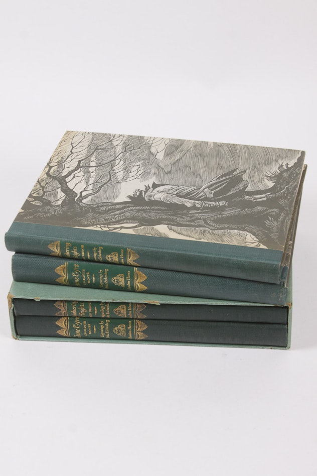 "Collection of ""Jane Eyre"" and ""Wuthering Heights"" by the Bronte Sisters"