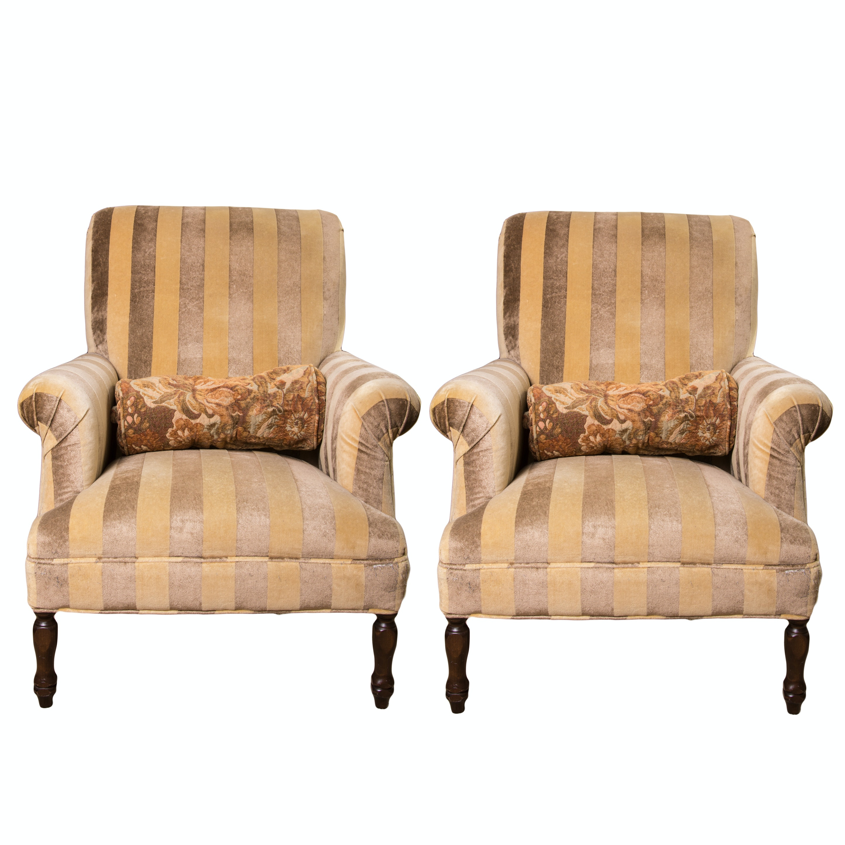 Pair of English Inspired Club Chairs