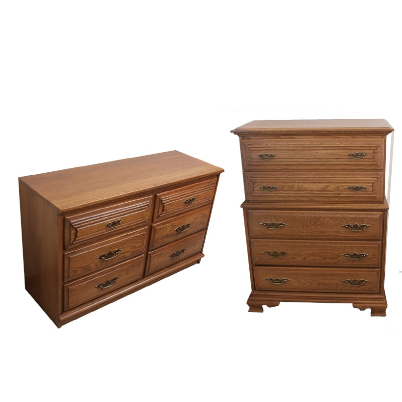 """Charter Oak"" Chest on Chest and Dresser by Young-Hinkle"