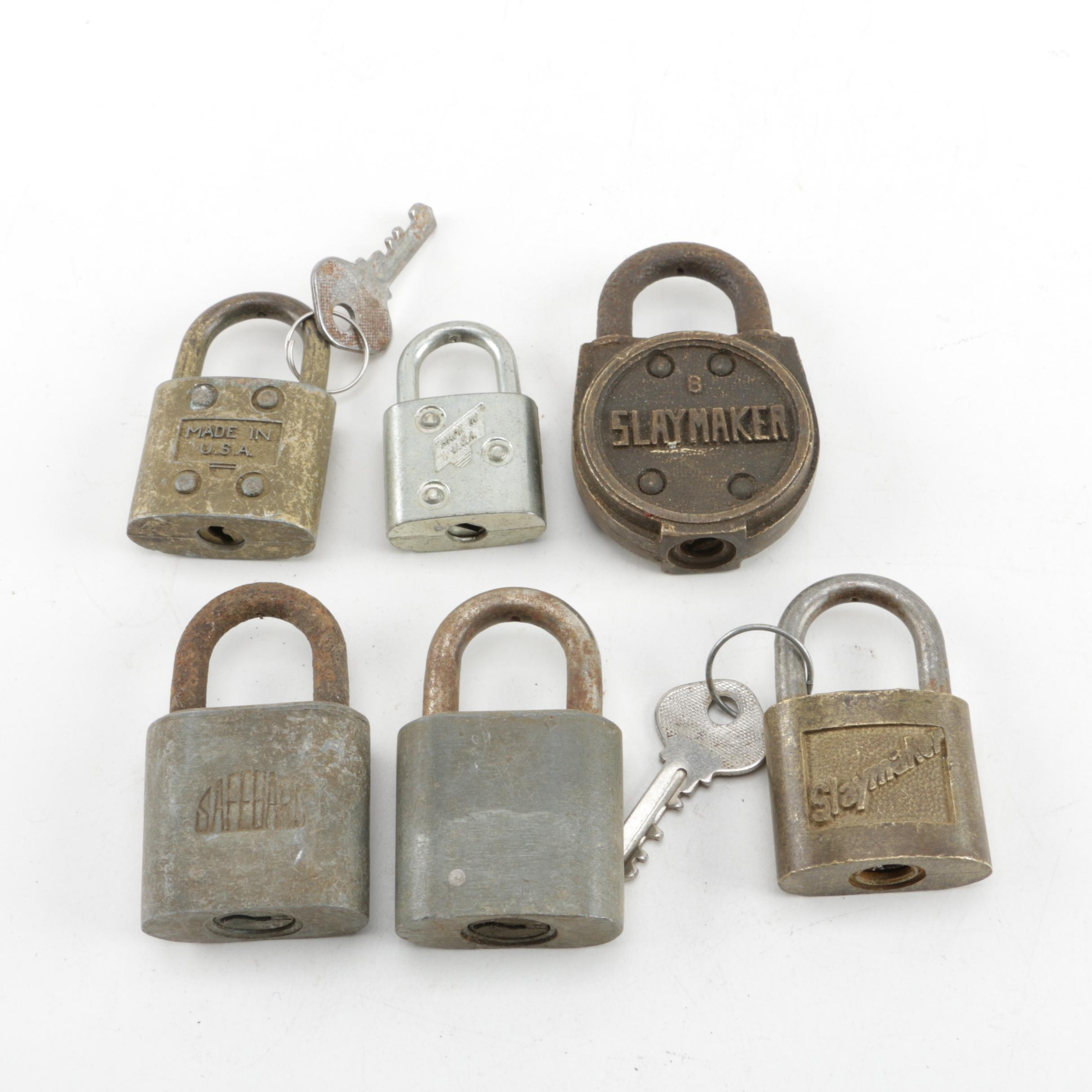 Vintage Padlocks Including Slaymaker
