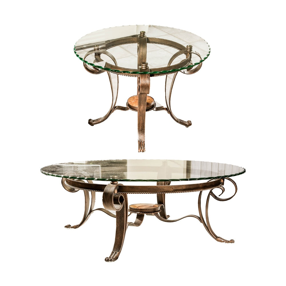 Regency Style Coffee Table and End Table