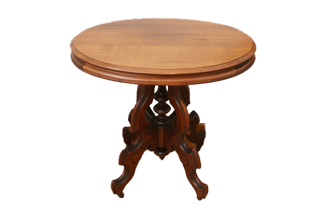 Victorian Wooden Parlor Table