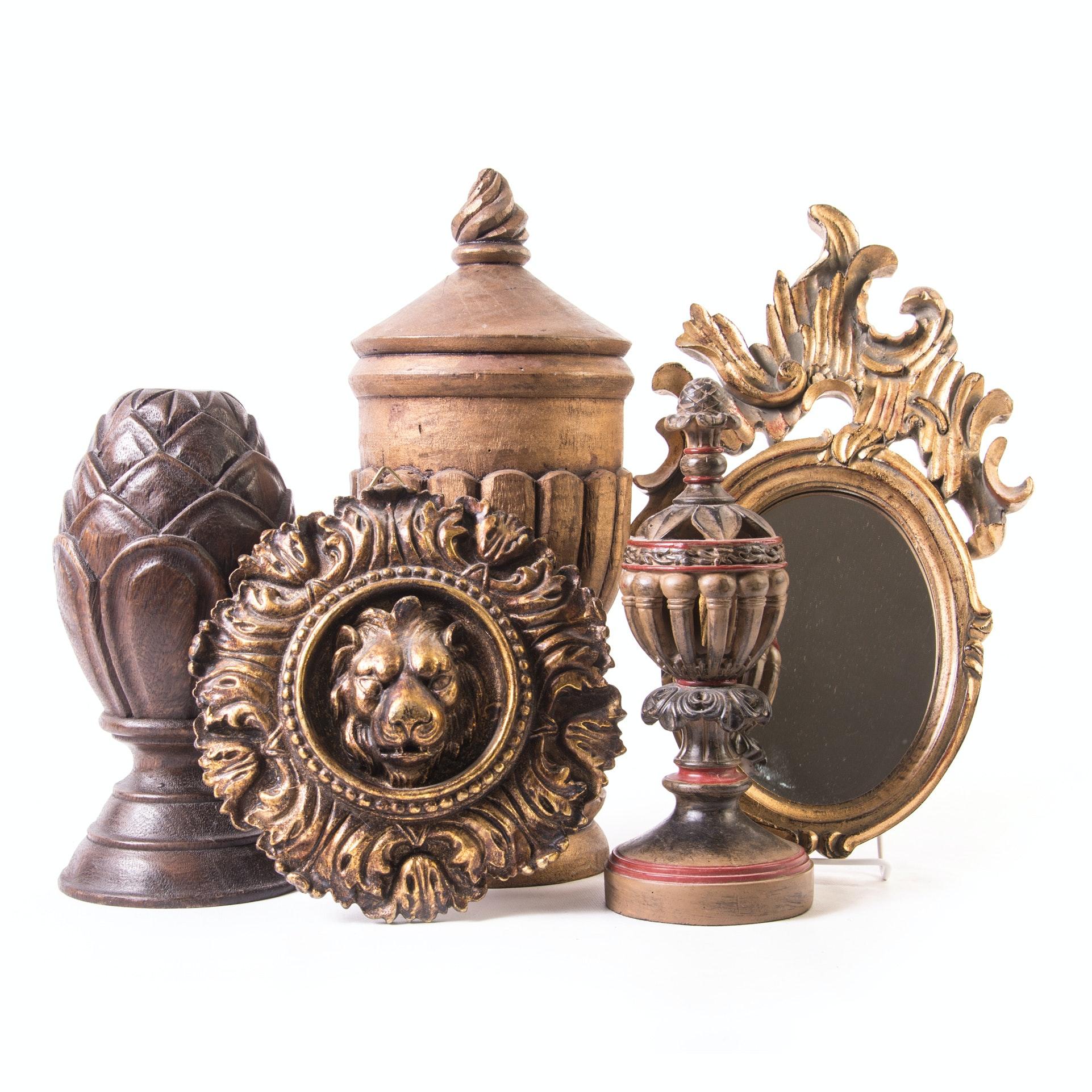 Neoclassical Decorative Finials and Decor