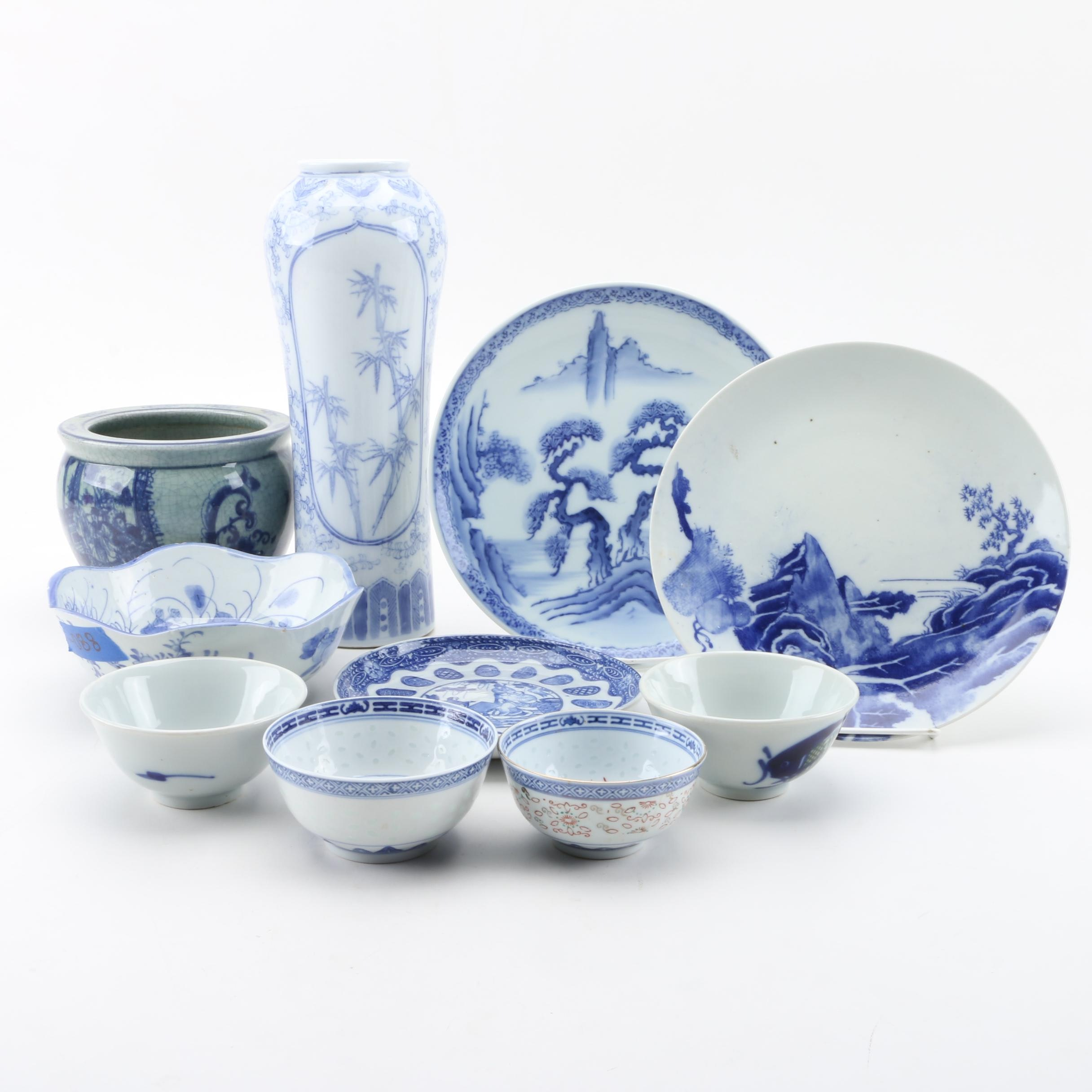Japanese and Chinese Porcelain Tableware