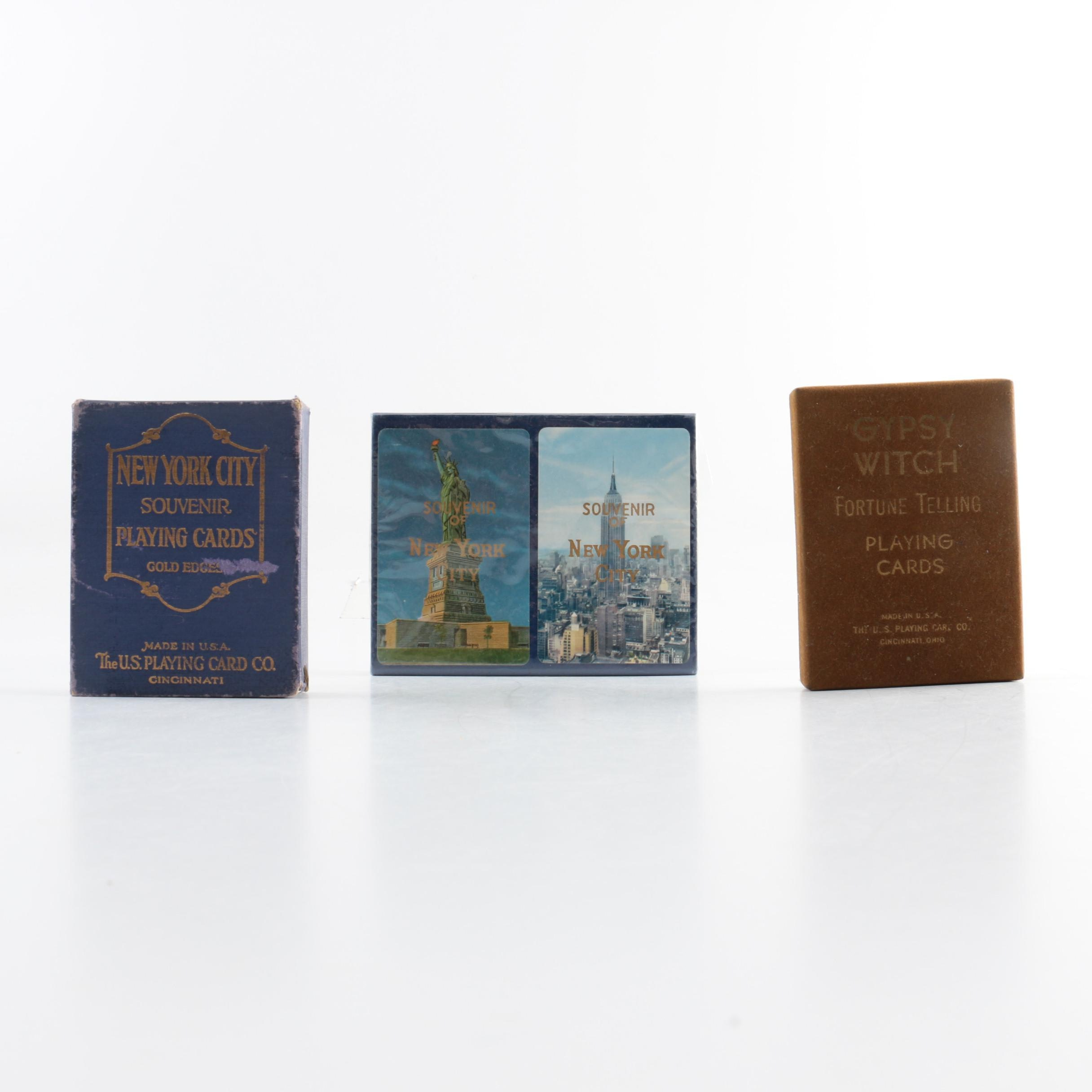 """""""Gypsy Witch"""" Fortune Telling Playing Cards with New York Souvenir Cards"""