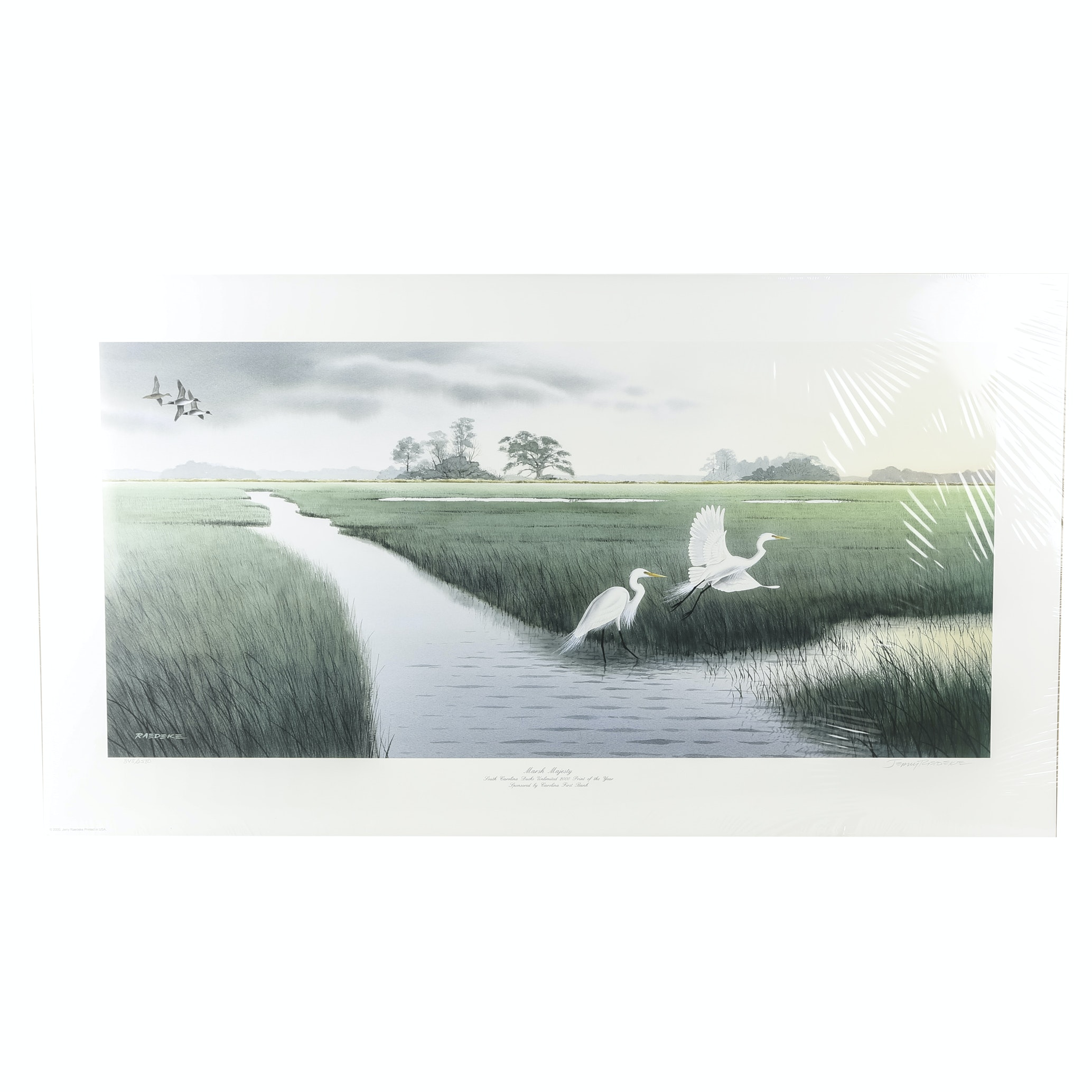 "Limited Edition Jimmy Raedeke Offset Lithograph ""Marsh Majesty"""