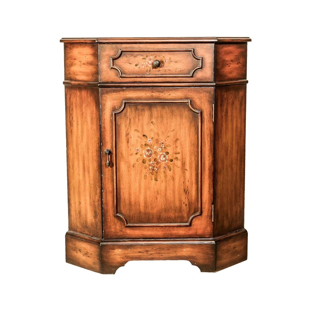 French Provincial Style Corner Cabinet