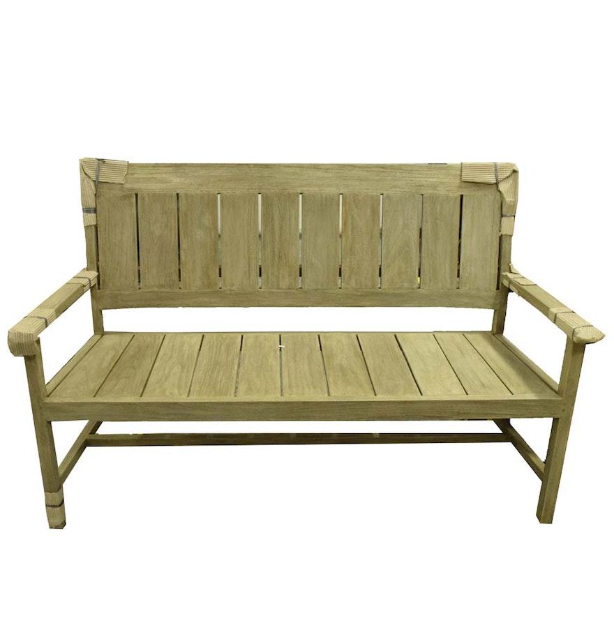 Teak Patio Bench EBTH - Teak patio bench