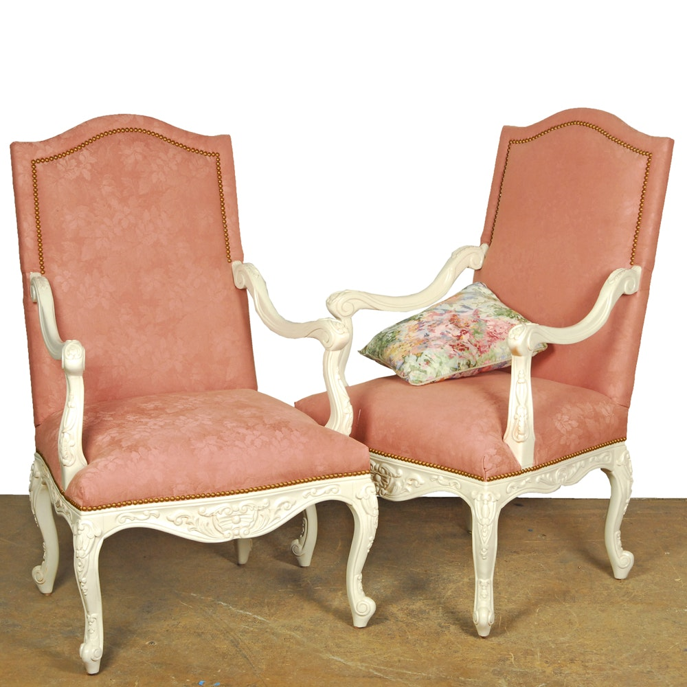 Louis XV Style Armchairs by Bassett