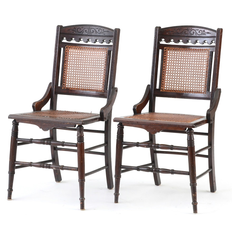 Antique Cane Chairs ... - Antique Cane Chairs : EBTH