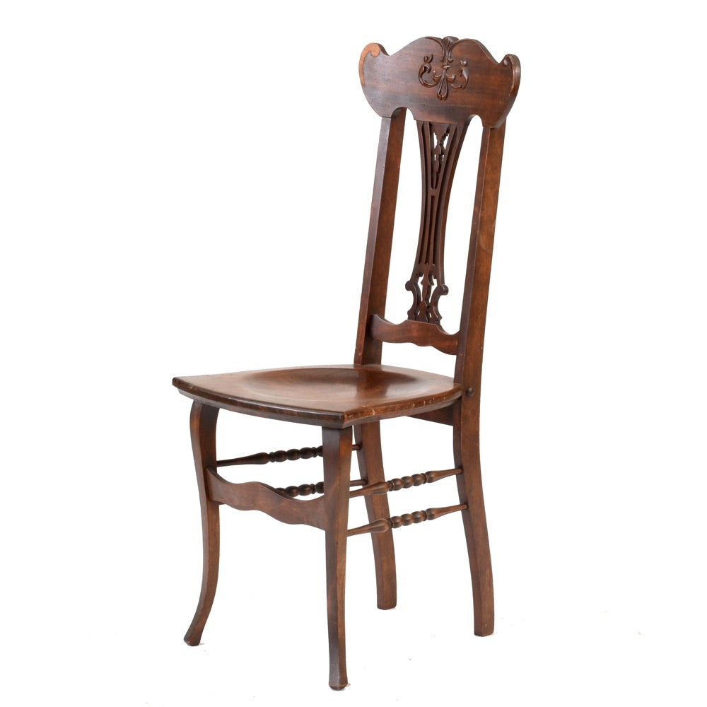 Antique Chippendale-Style Side Chair