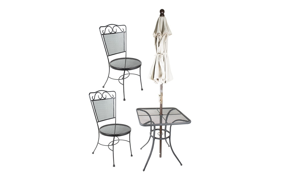 Metal Patio Furniture with Umbrella