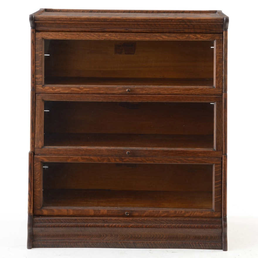 Oak Sectional Barrister Bookcase By C J Lundstrom