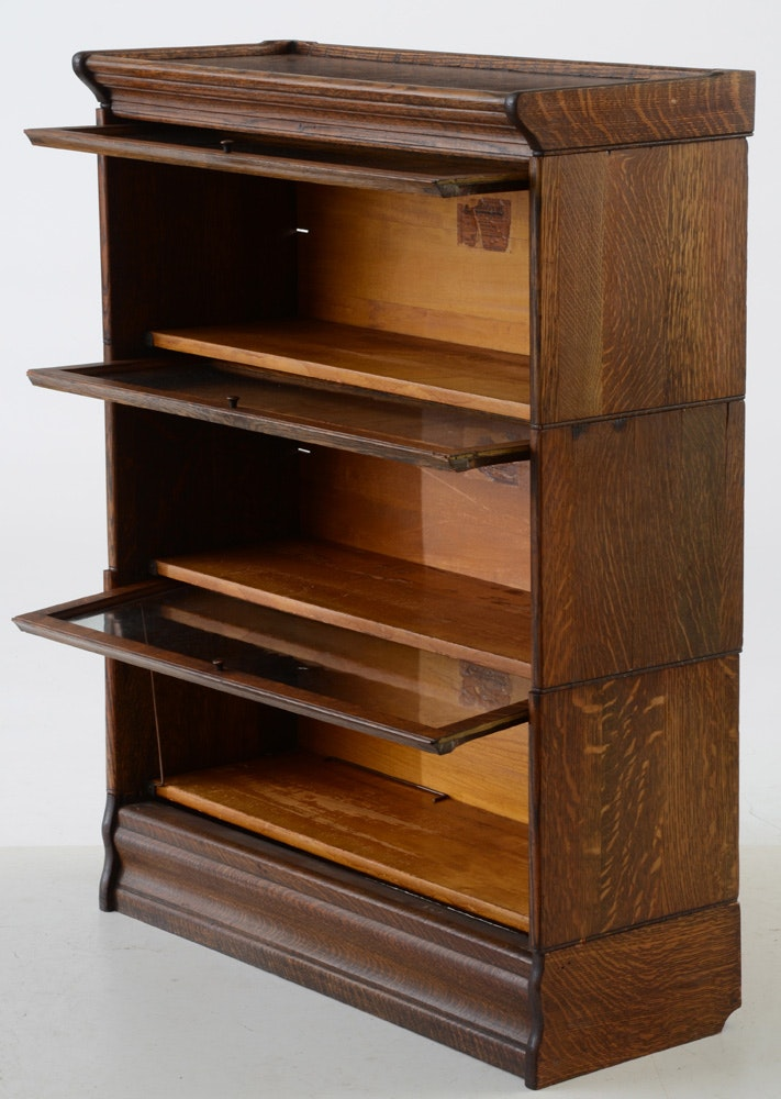 Oak Sectional Barrister Bookcase By C. J. Lundstrom | EBTH