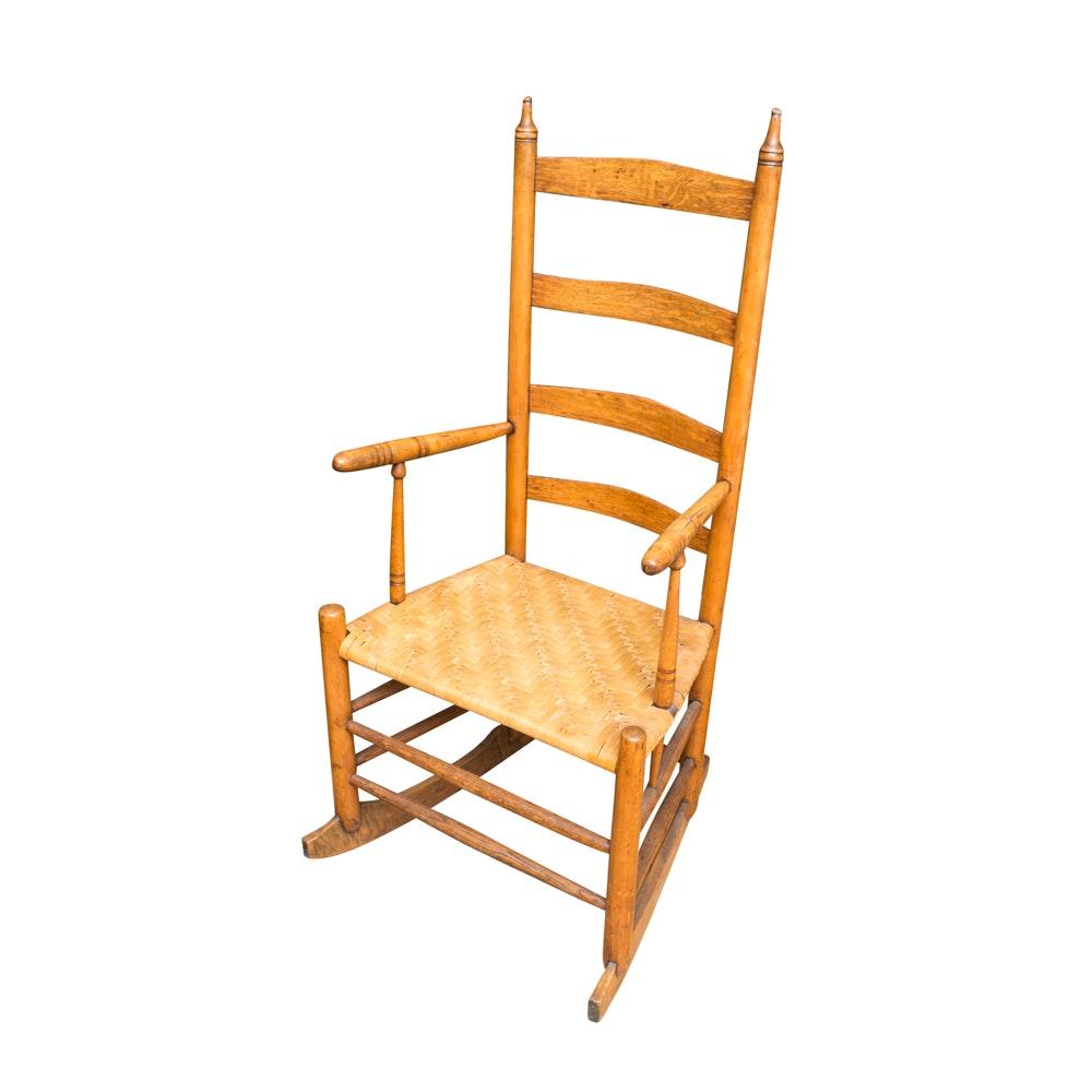 Oak Ladderback Rocking Chair
