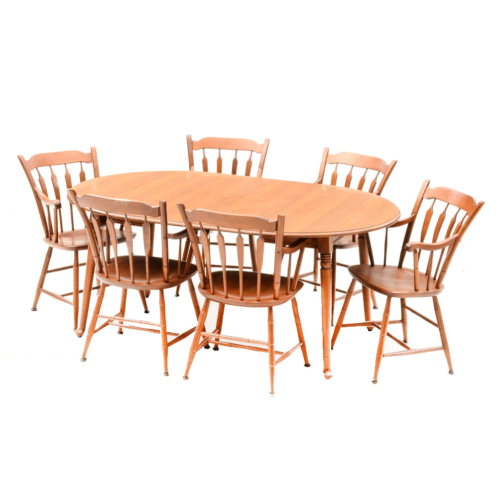 Tell City Dining Table and Chairs