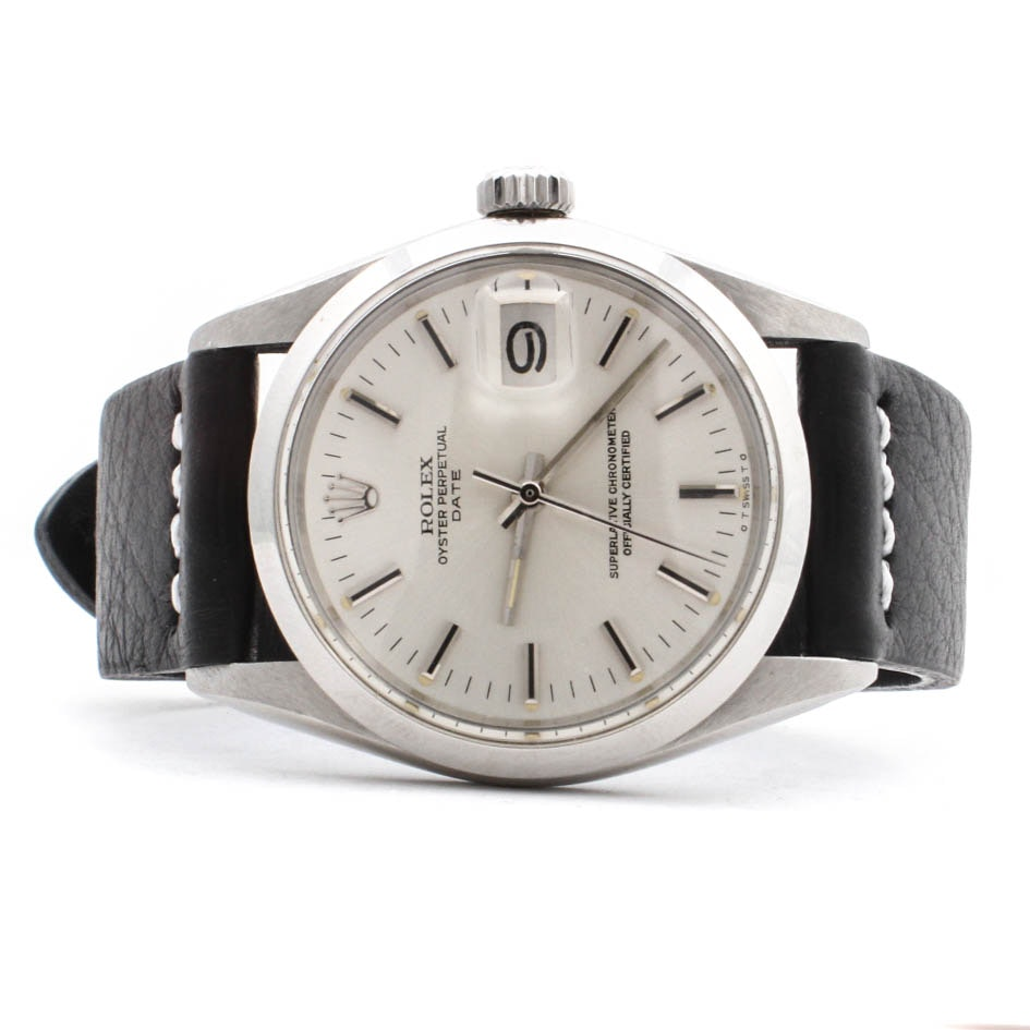 Vintage Circa 1972 Rolex Perpetual Date Stainless Steel Wristwatch
