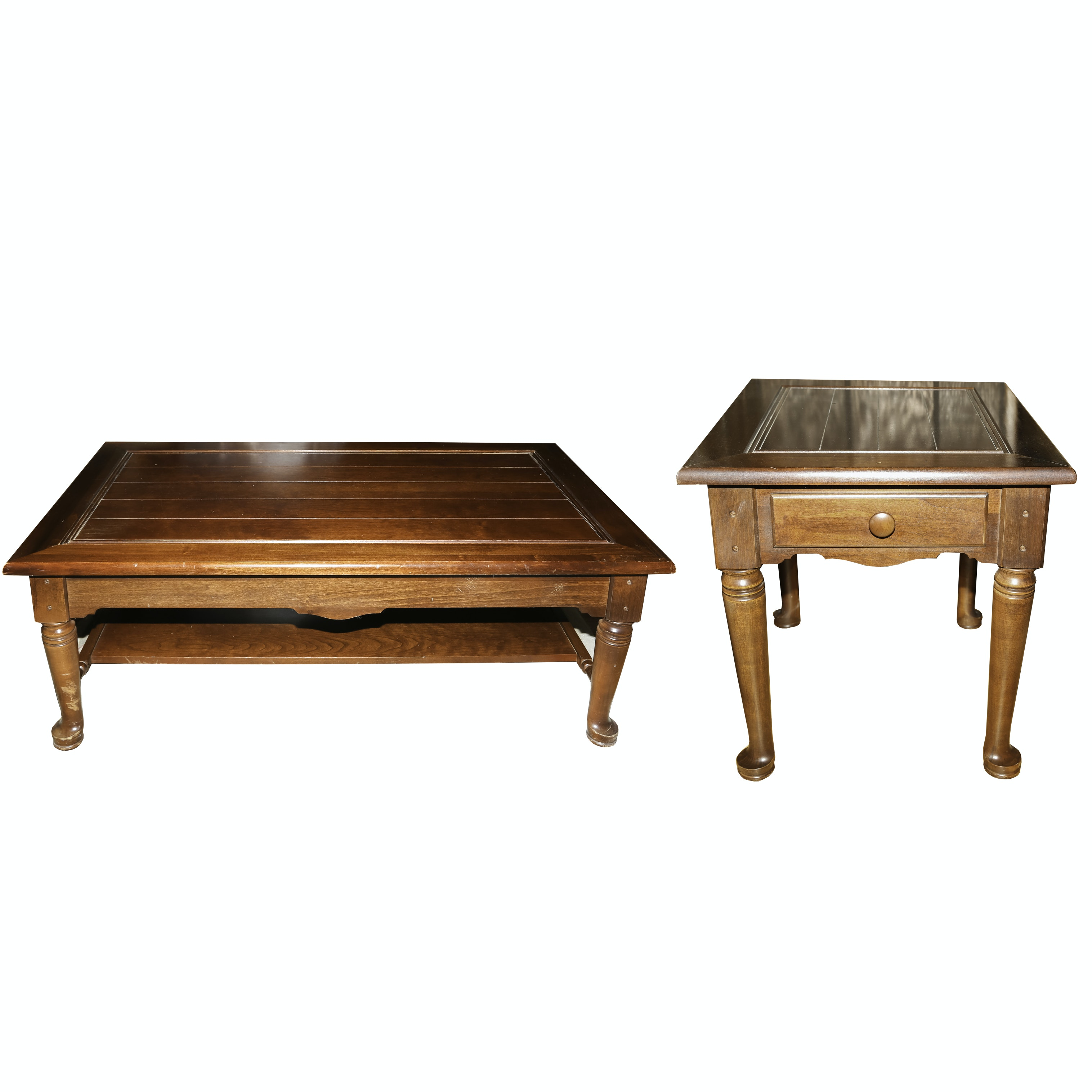 Coffee Table and End Table by Bassett